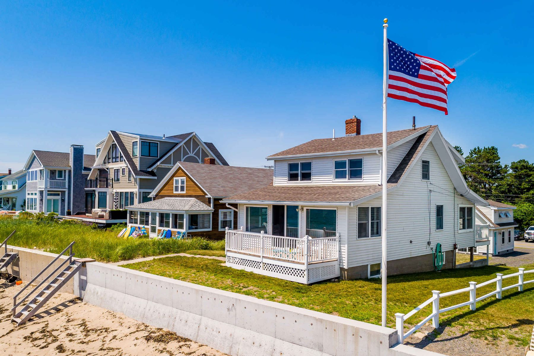 Single Family Homes for Sale at Year-round Oceanfront Bungalow on Moody Beach 493 Ocean Avenue, Wells, Maine 04054 United States