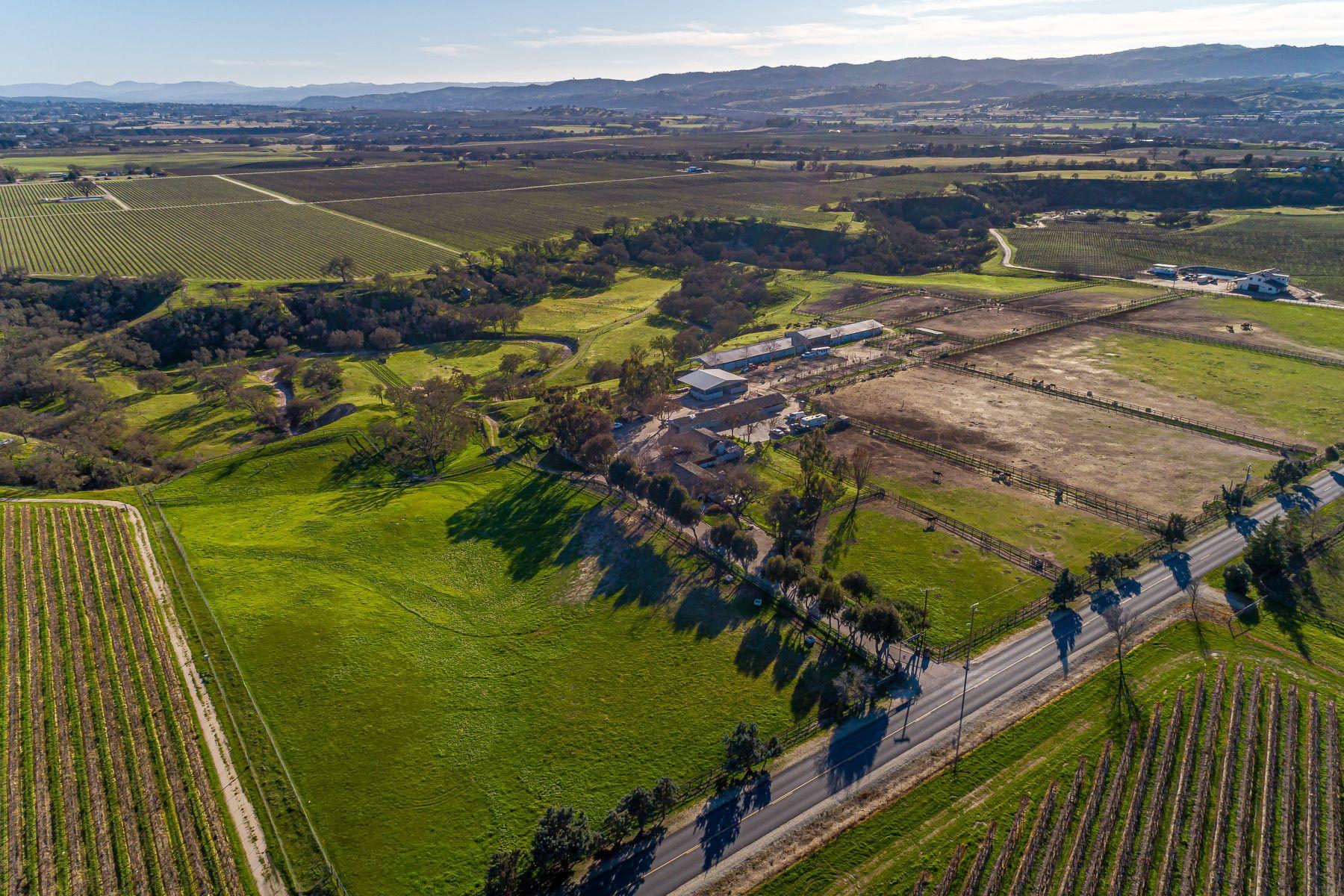 Farm / Ranch / Plantation for Active at Two Ranch Style Homes & 3 Barns 1880 Wellsona Road Paso Robles, California 93446 United States