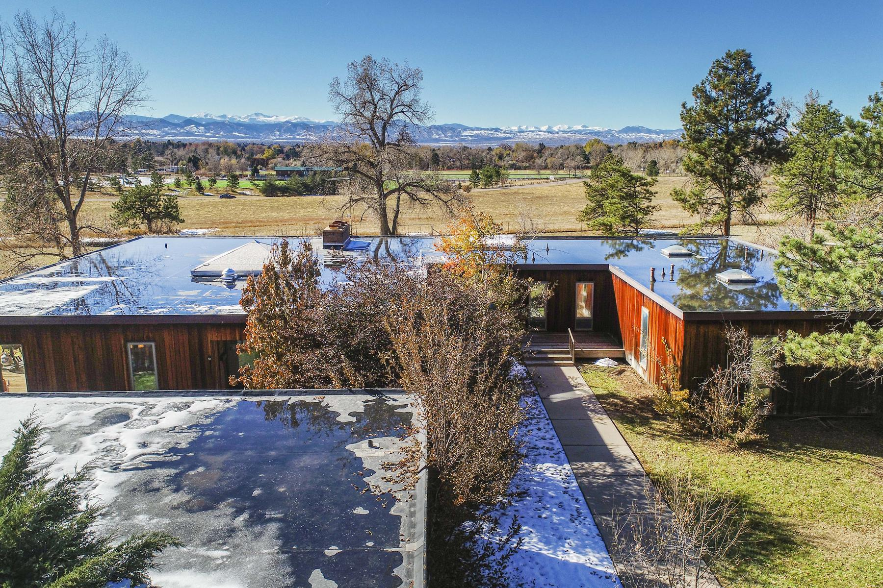 Land for Active at Incredible Opportunity to scrape and build or add-on to this classic modern home 4140 E Quincy Ave Cherry Hills Village, Colorado 80113 United States