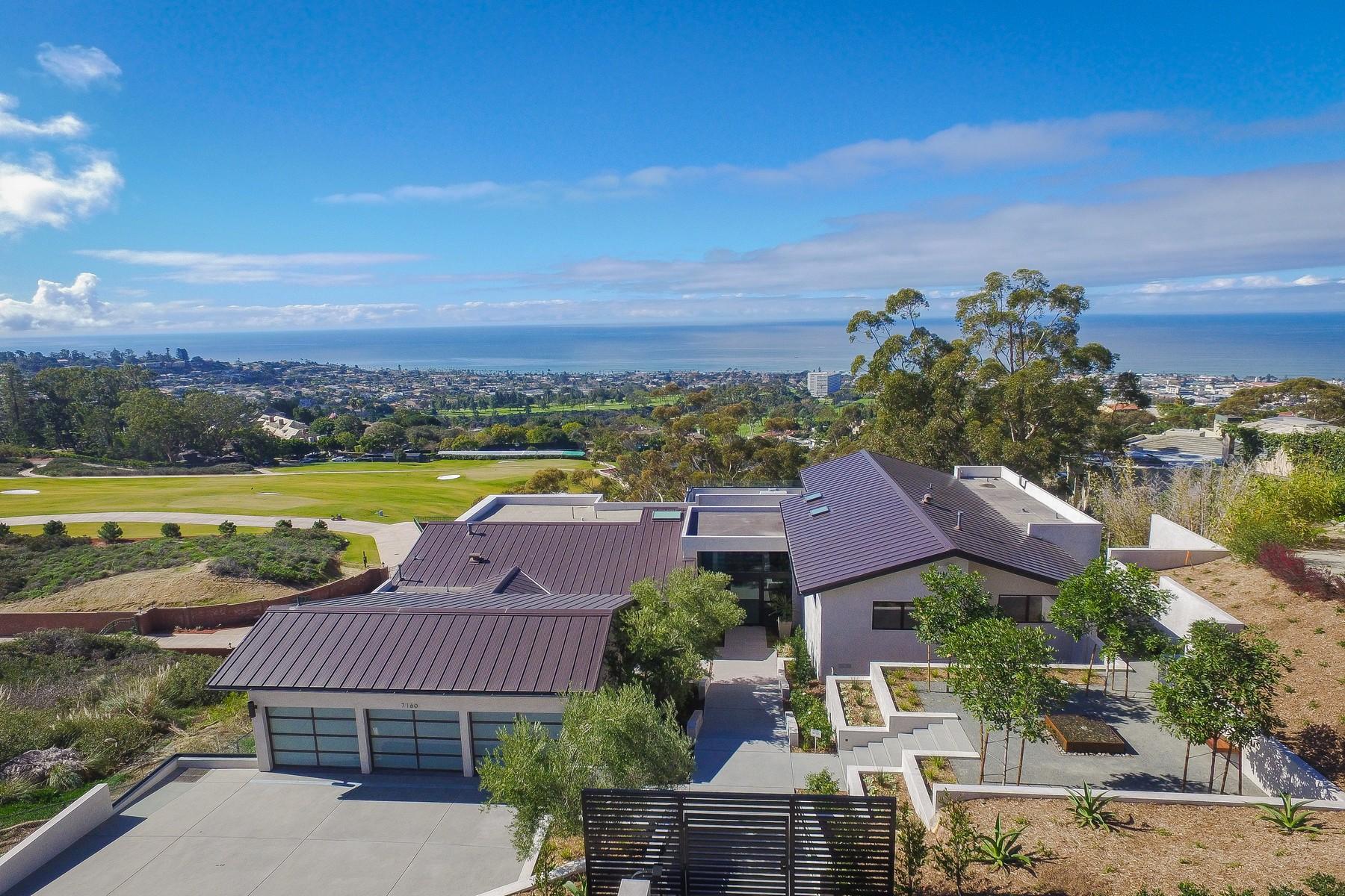 獨棟家庭住宅 為 出售 在 New Ocean-View Contemporary 7160 Encelia Drive La Jolla, 加利福尼亞州, 92037 美國