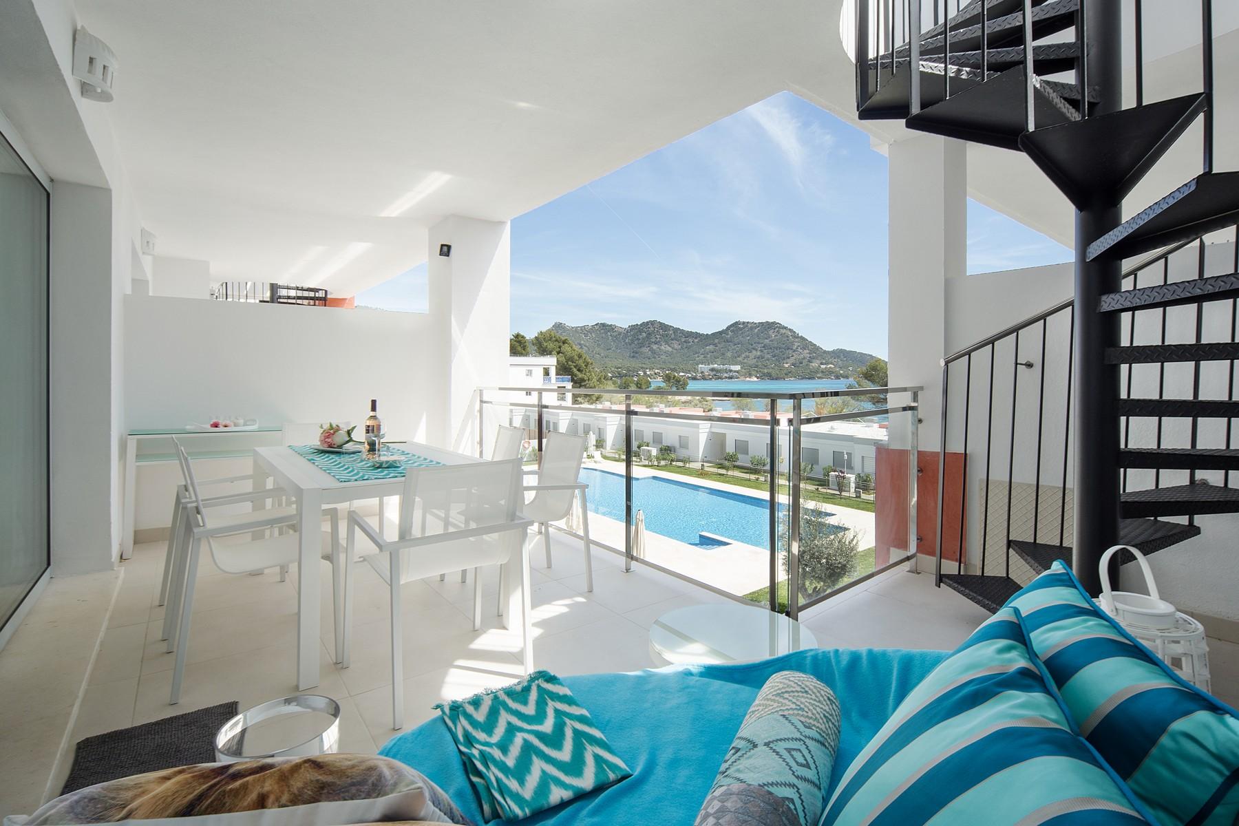 Casa Unifamiliar por un Alquiler en Penthouse with sea view in Costa de los Pinos Other Balearic Islands, Balearic Islands, España