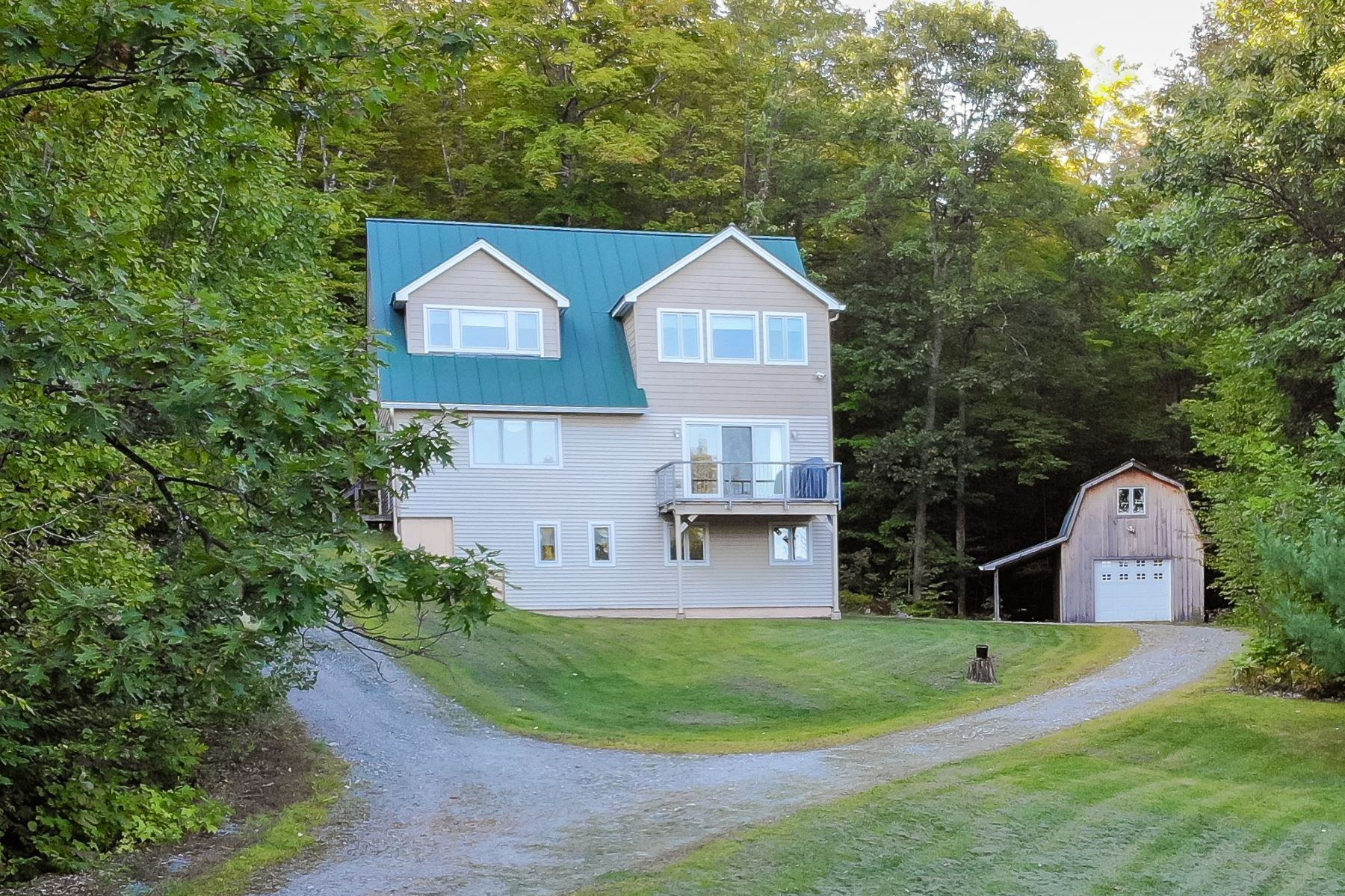 Single Family Homes for Sale at Two Bedroom Contemporary in Newbury on 11 Acres 882 Fuller Rd Newbury, Vermont 05051 United States