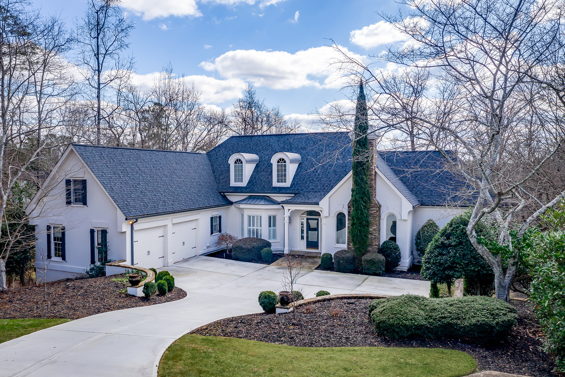 Single Family Homes for Sale at Complete Renovation Provides A Country Club of the South Retreat 950 Tiverton Lane Johns Creek, Georgia 30022 United States