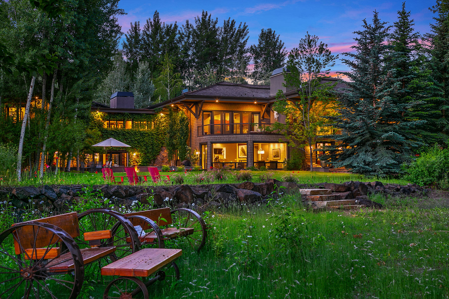 Single Family Homes for Sale at Riverfront Retreat Compound 221 & 225 Sutton Pl Ketchum, Idaho 83340 United States