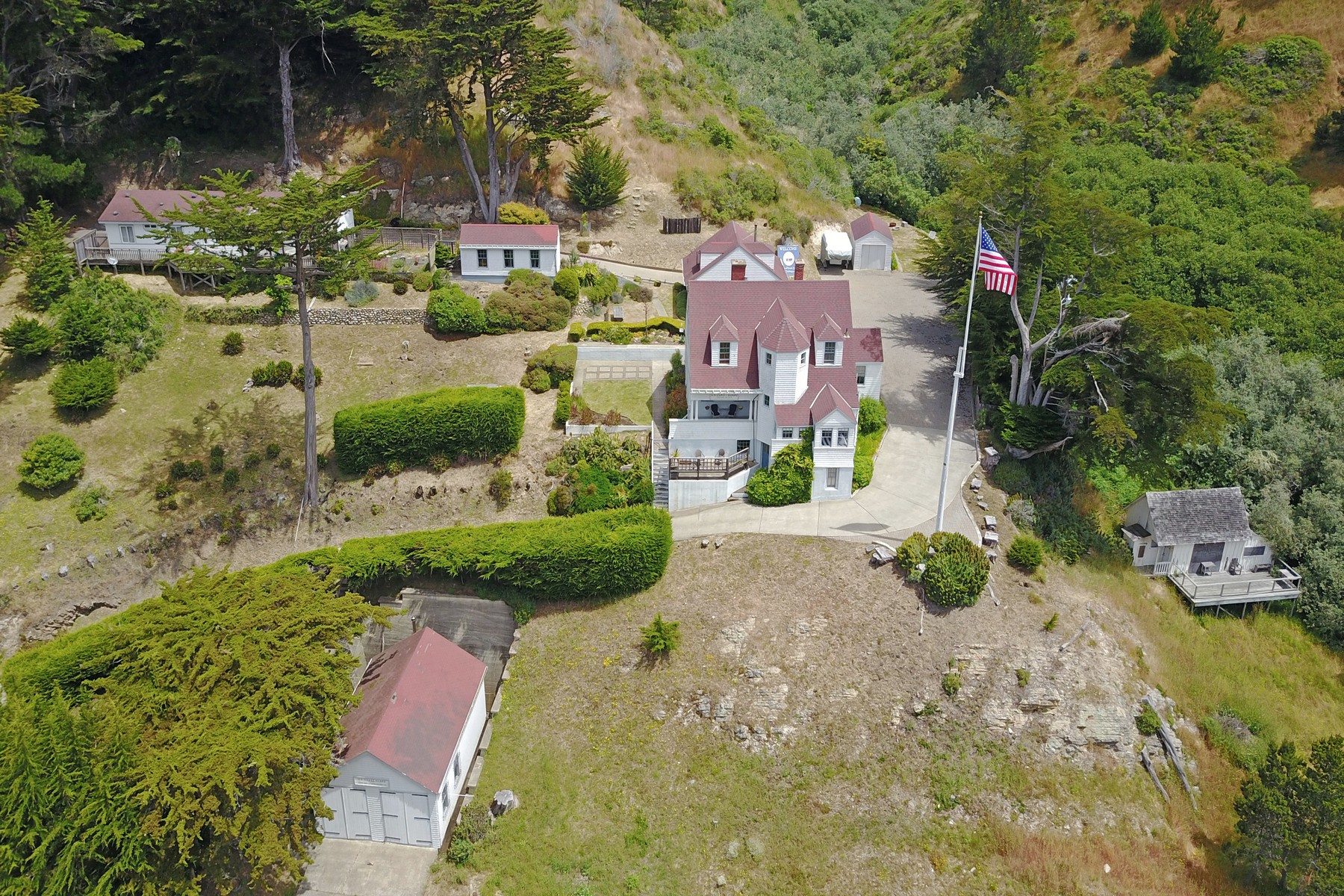 Single Family Homes for Sale at Coast Guard House 695 Port Road Point Arena, California 95468 United States
