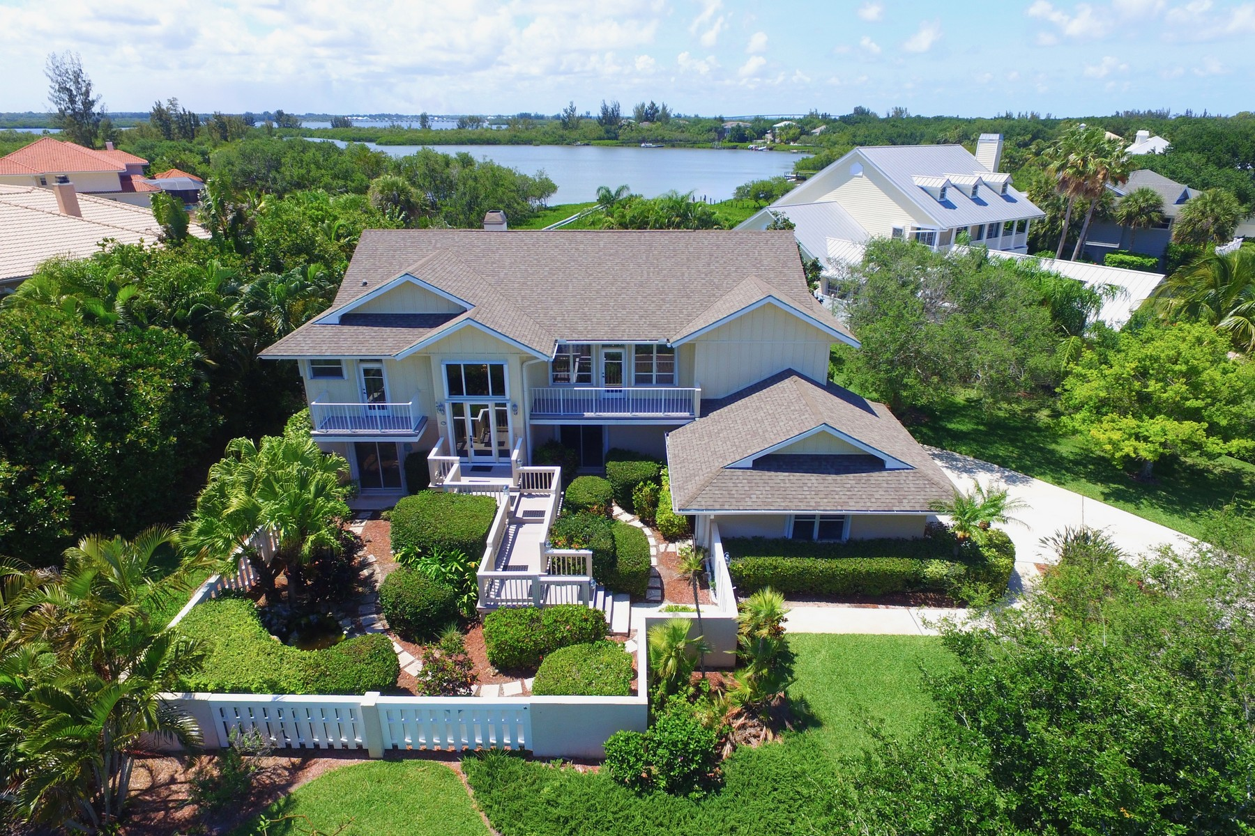 Single Family Homes for Sale at Waterfront Estate with Private Dock 8485 Seacrest Drive Vero Beach, Florida 32963 United States