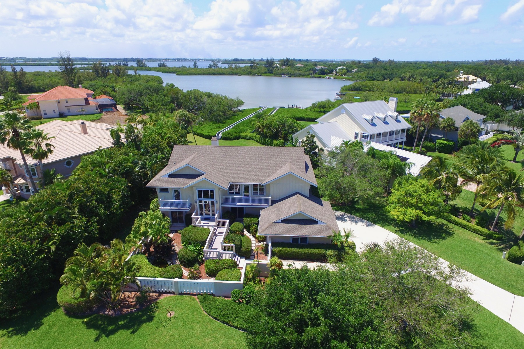 Single Family Home for Sale at Waterfront Estate with Private Dock 8485 Seacrest Drive Vero Beach, Florida 32963 United States