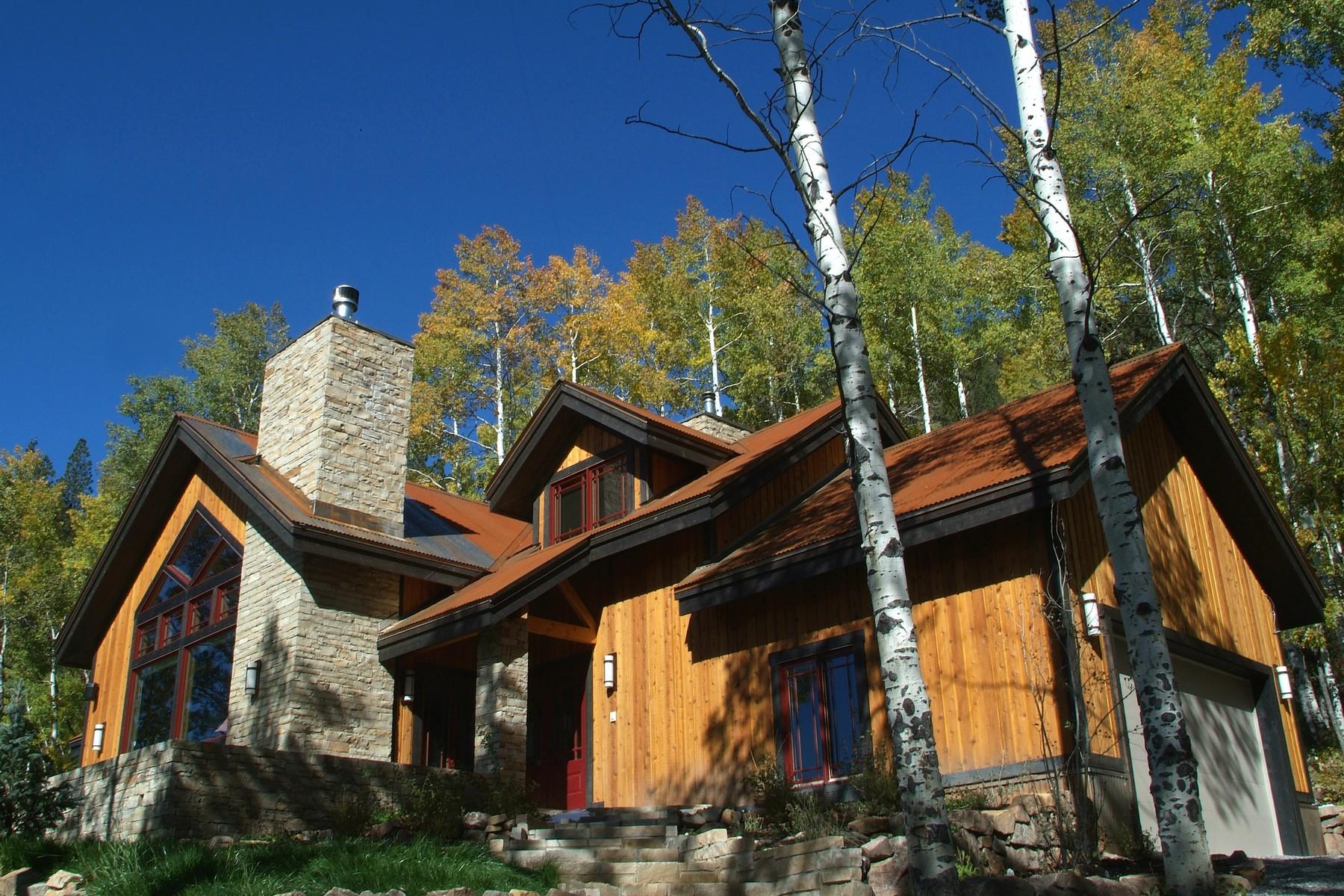Casa Unifamiliar por un Venta en 295 Sky Mountain Ranch Road 295 Sky Mountain Ranch Road Placerville, Colorado 81435 Estados Unidos