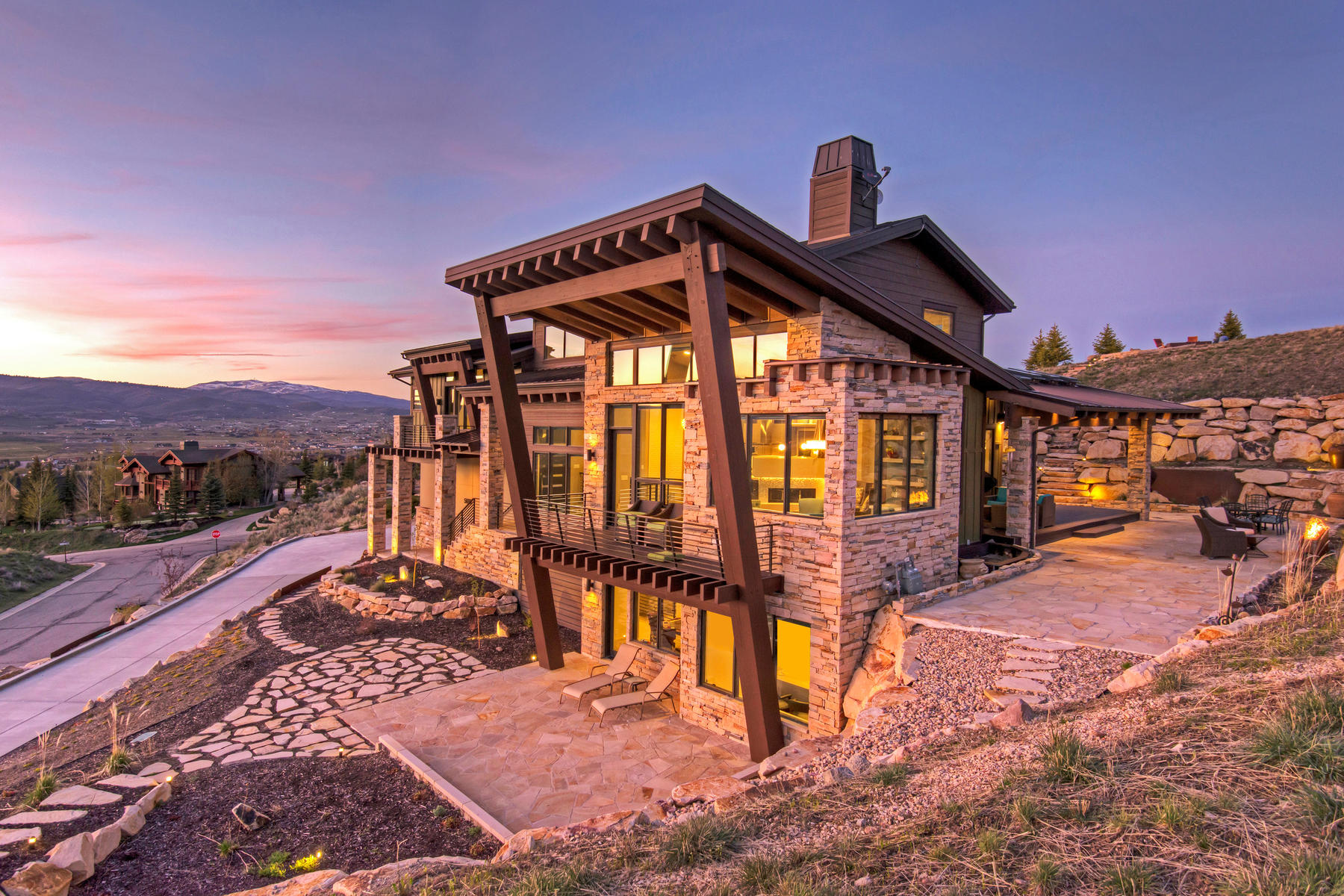 Single Family Home for Sale at Stunning Contemporary Home 5690 Aidan Ct Park City, Utah, 84098 United States