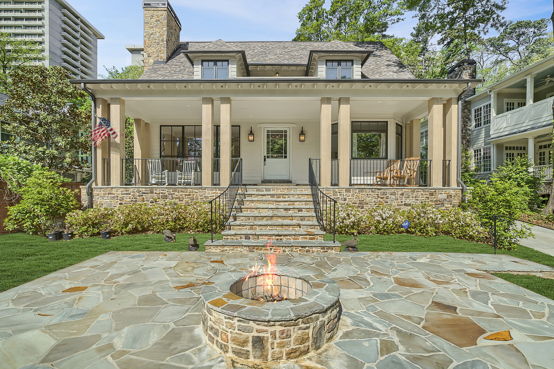 Single Family Home for Sale at Exceptional Custom Build Overlooking Sought After Duck Pond And Park 2618 Parkside Drive NE Atlanta, Georgia 30305 United States