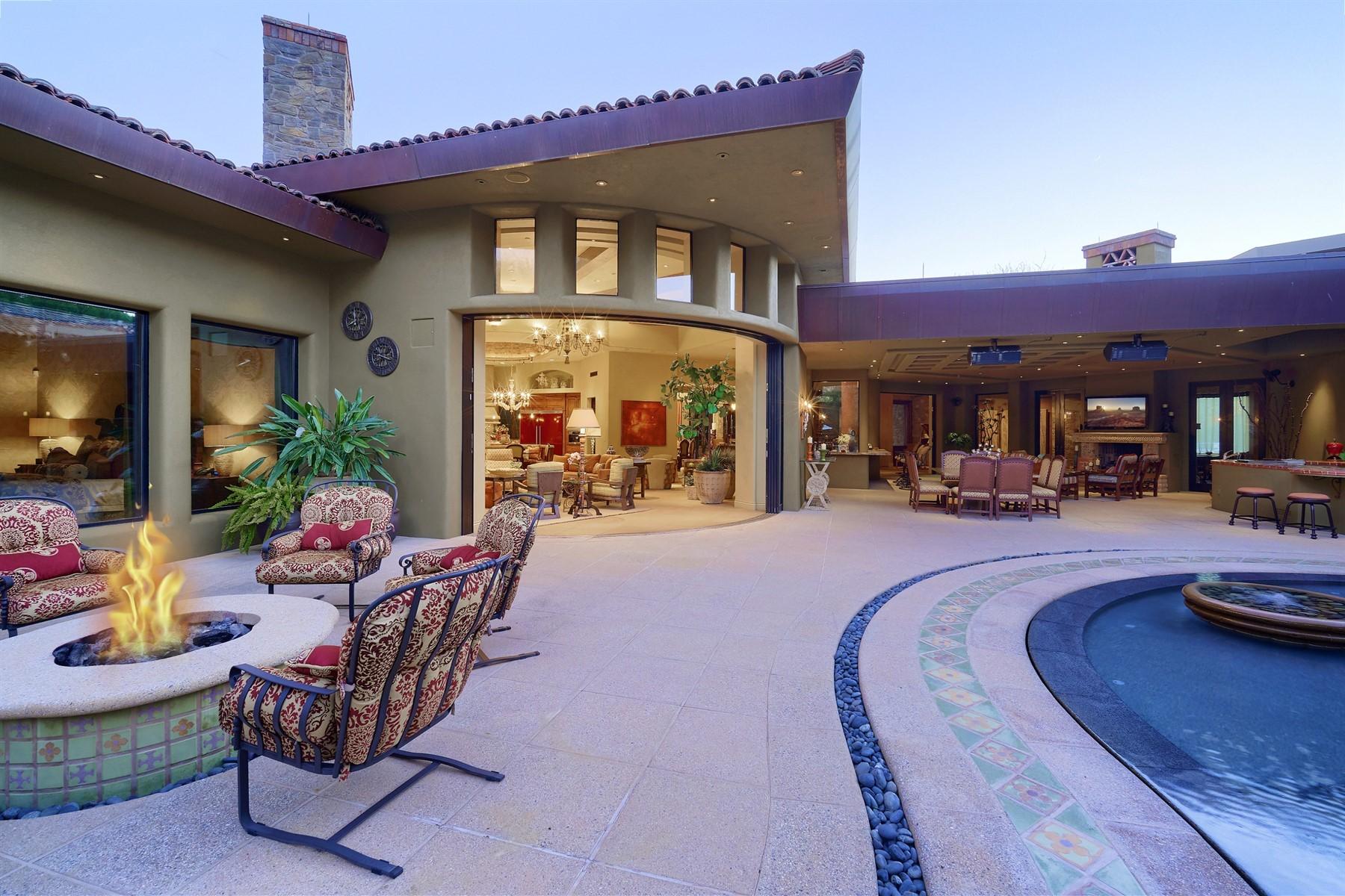 Single Family Homes for Active at Modern Hacienda with Camelback Mountain Views 5144 E Palomino Road Phoenix, Arizona 85018 United States