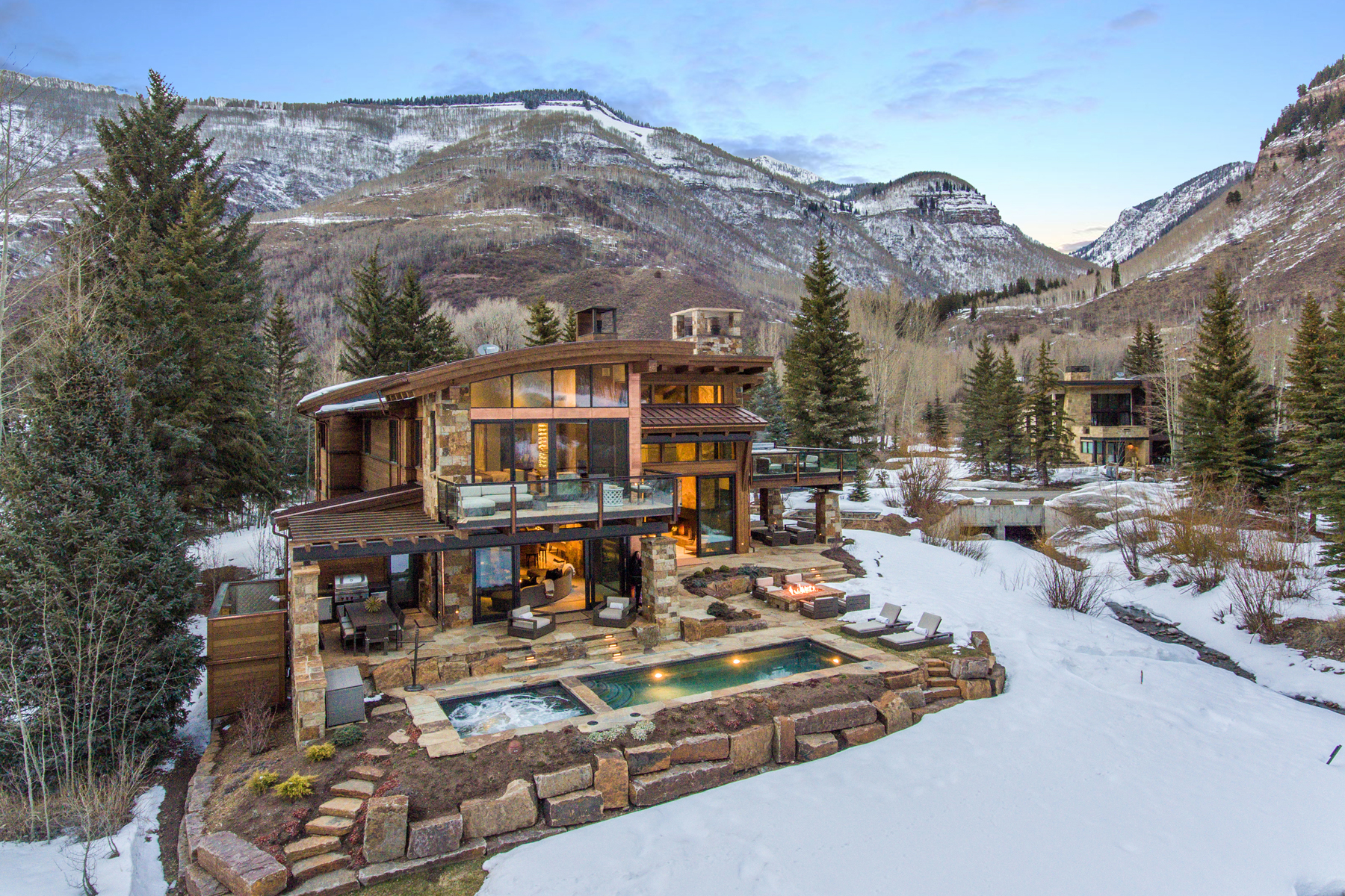 Single Family Home for Active at Modern Masterpiece on Gore Creek 2950 Booth Creek Rd Vail, Colorado 81657 United States