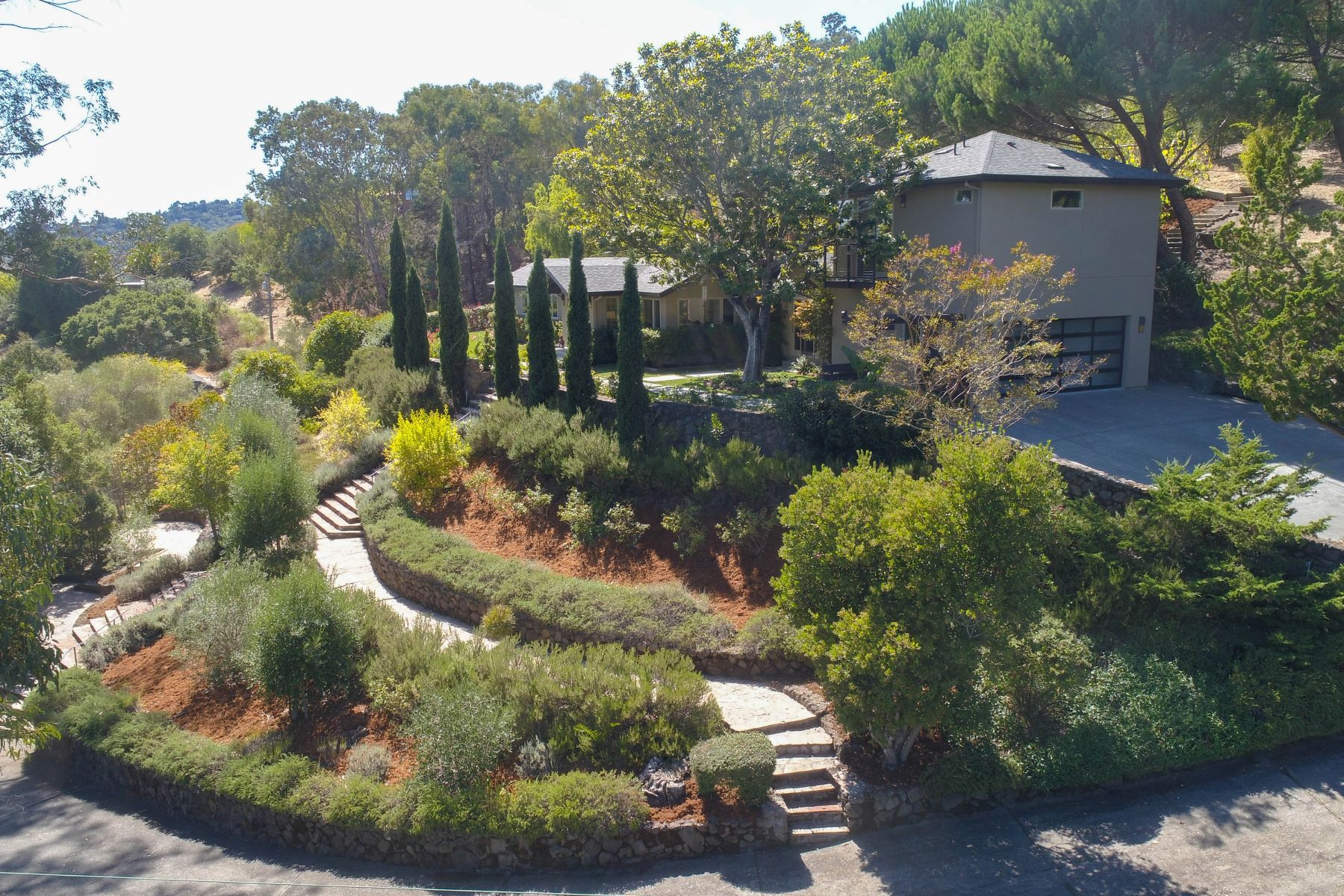 Single Family Homes for Sale at Estate Home on an Acre with Postcard Views 33 Pigeon Hollow Rd San Rafael, California 94901 United States