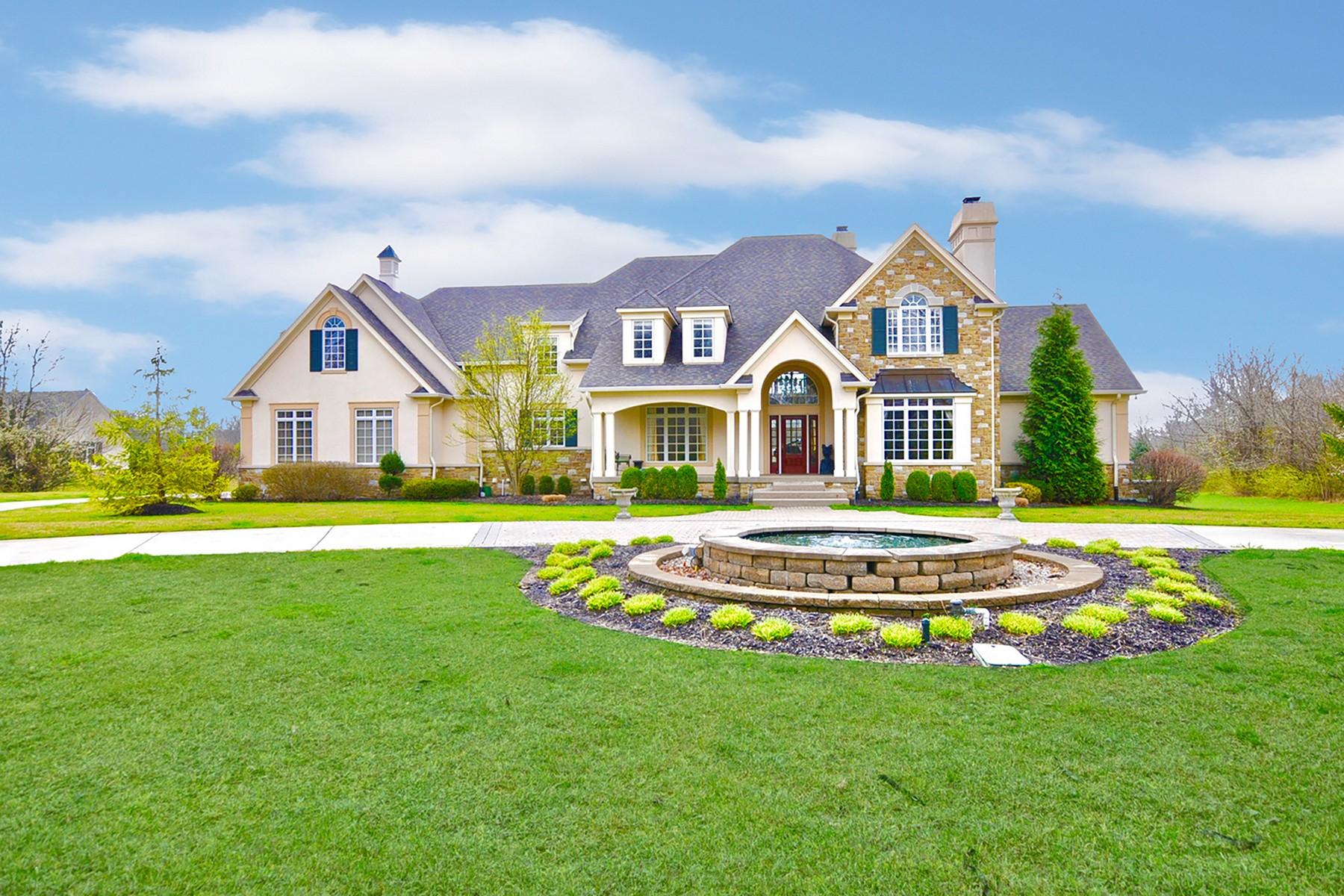 Casa para uma família para Venda às Classic, Elegant Home 11543 Willow Springs Drive Zionsville, Indiana, 46077 Estados Unidos