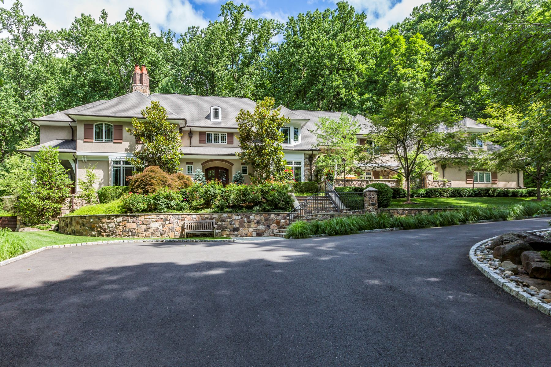 Single Family Homes for Sale at Spectacular Sanctuary 44 Cradle Rock Road, Princeton, New Jersey 08540 United States