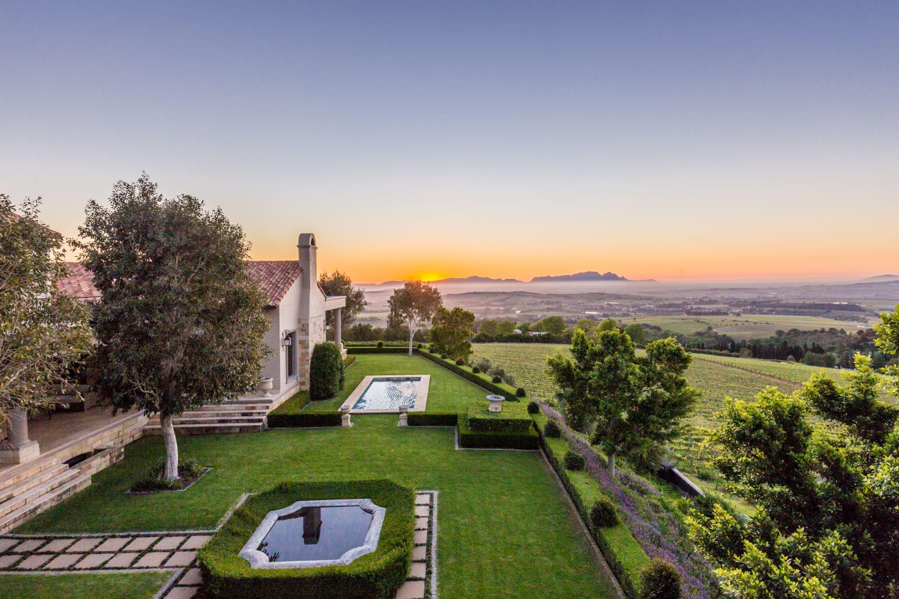 Granjas / Hacienda / Platanción por un Venta en Stellenbosch Boutique Wine Estate Stellenbosch, Provincia Occidental Del Cabo 7600 Sudáfrica