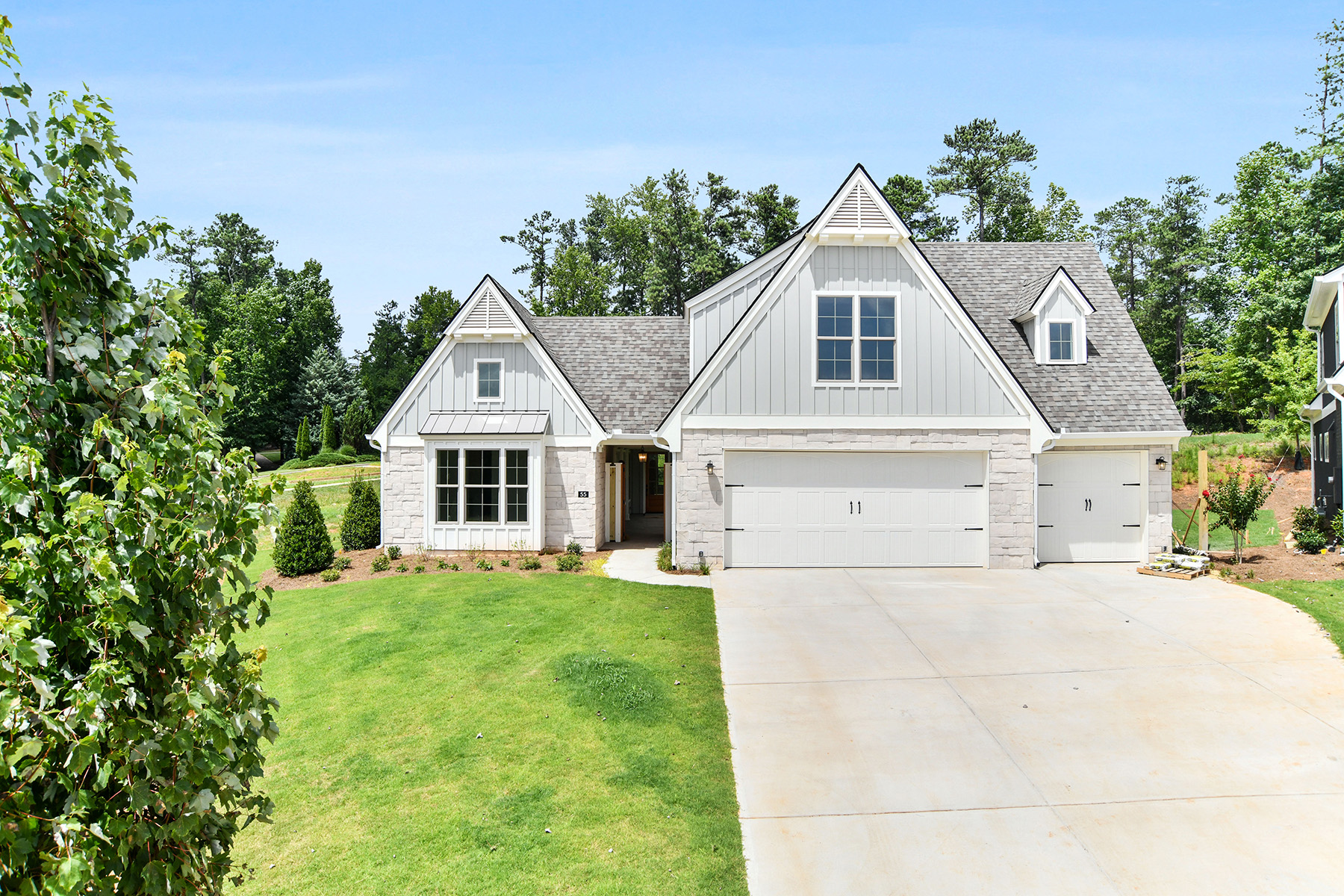 Single Family Homes for Active at New Construction Ranch With A Courtyard And Two Car Garage In 55 Plus Community 55 Arbor Garden Circle Newnan, Georgia 30265 United States