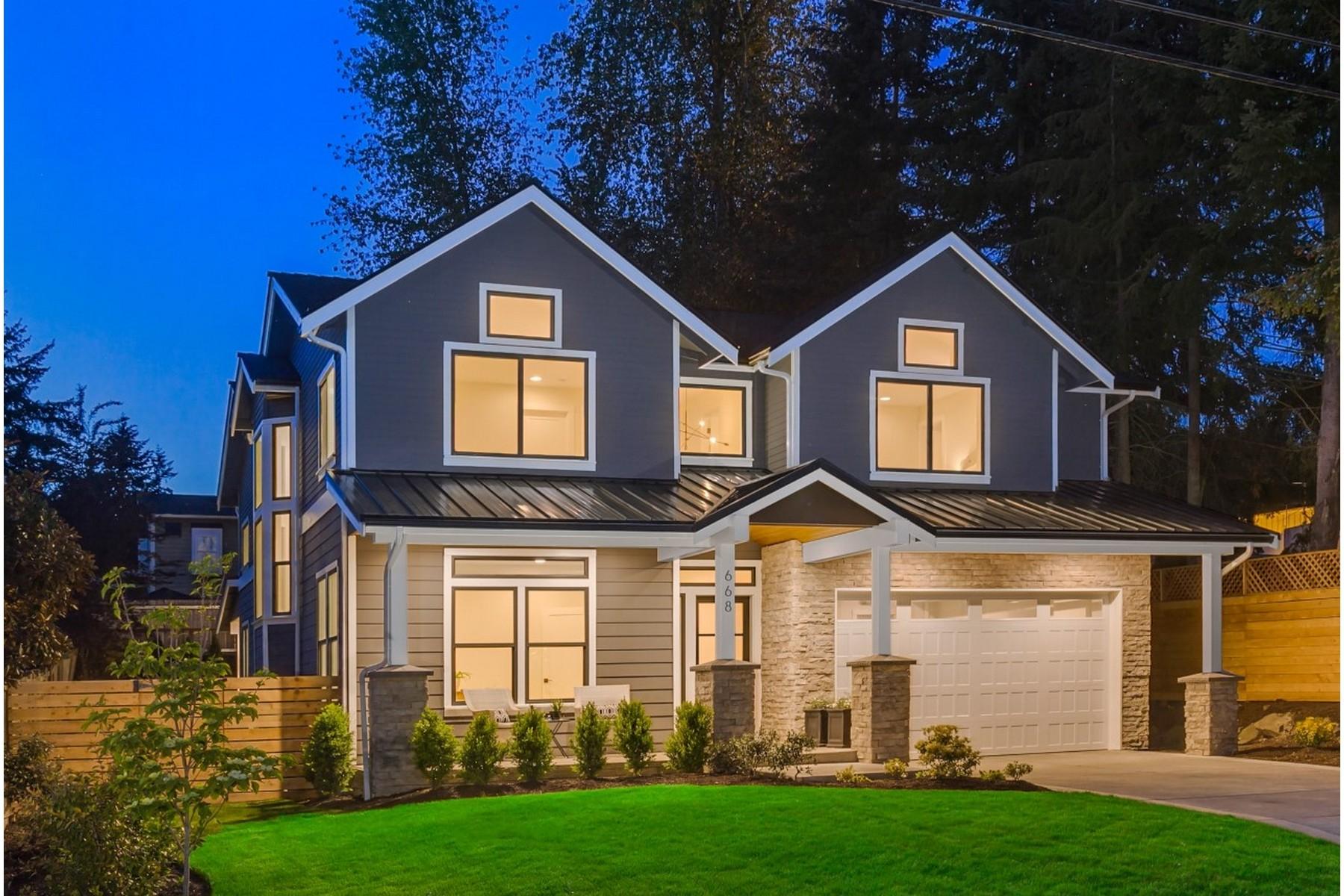 Single Family Home for Sale at East of Market Custom 668 10th Ave Kirkland, Washington, 98033 United States