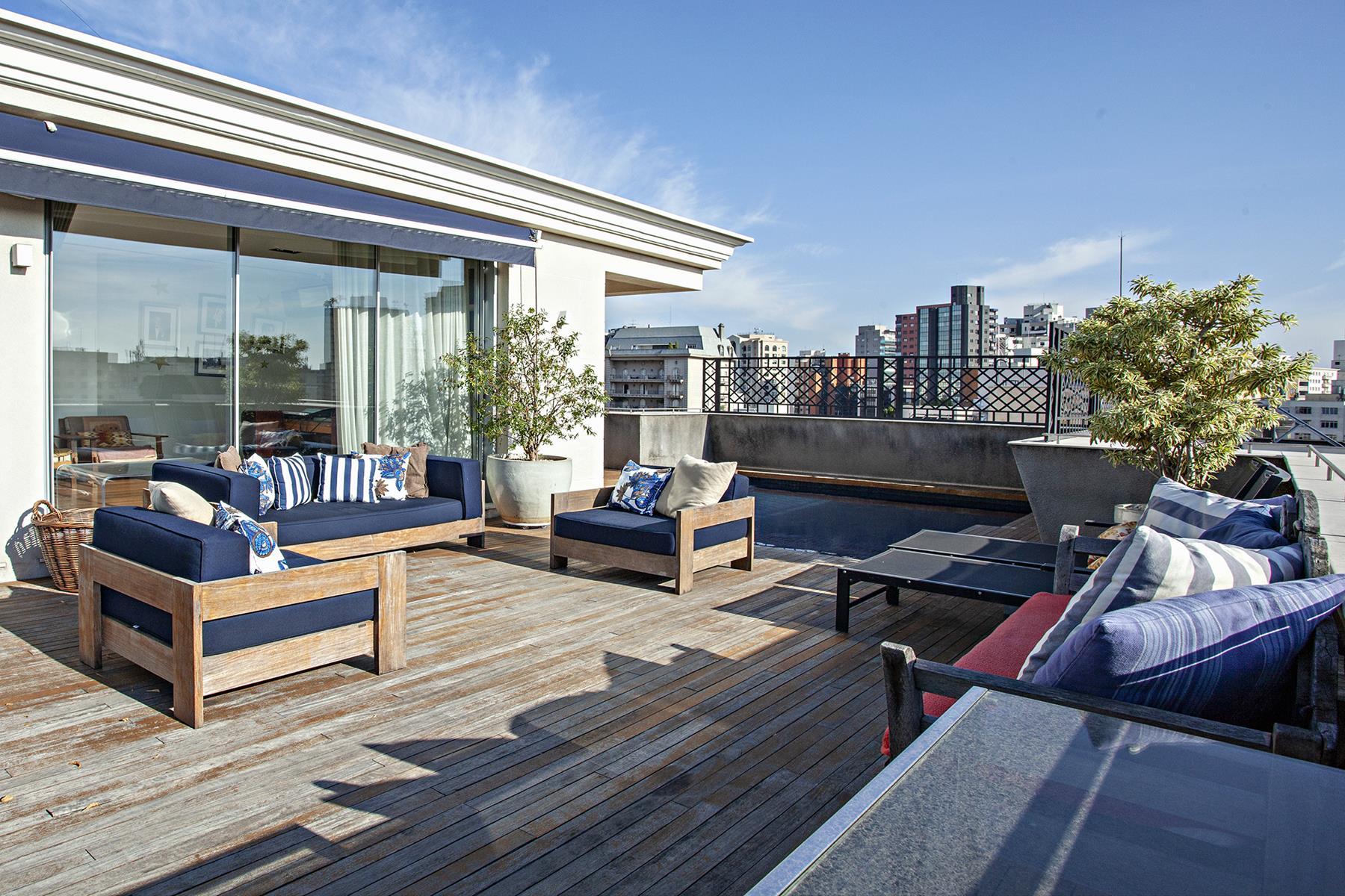 Single Family Home for Sale at Duplex penthouse with panoramics views in Jardim Paulista Sao Paulo, Brazil