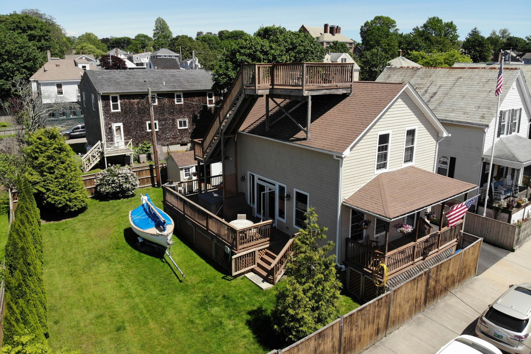 Single Family Homes for Sale at Renaissance District Cottage 65 Hall Avenue Newport, Rhode Island 02840 United States