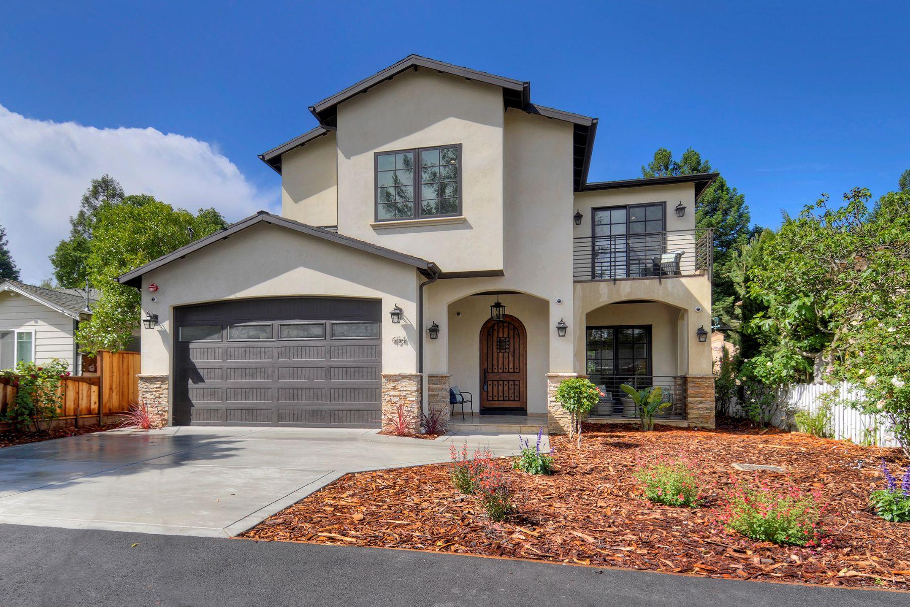 Single Family Homes para Venda às Custom Built Executive Home 454 Buena Vista Avenue, Redwood City, Califórnia 94061 Estados Unidos