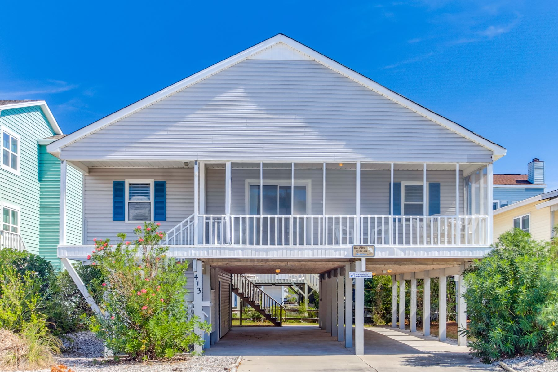 Single Family Home for Active at Beach Cottage, Casual Coastal Living 413 E 1st Street Sunset Beach, North Carolina 28468 United States