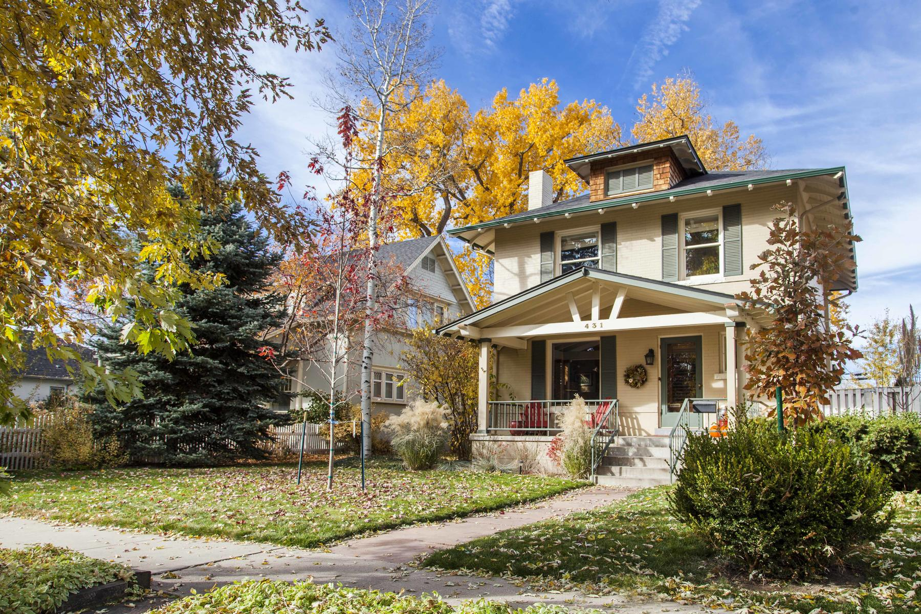 Single Family Home for Active at Wonderful Colors Inside And Out 431 N Marion St Denver, Colorado 80218 United States