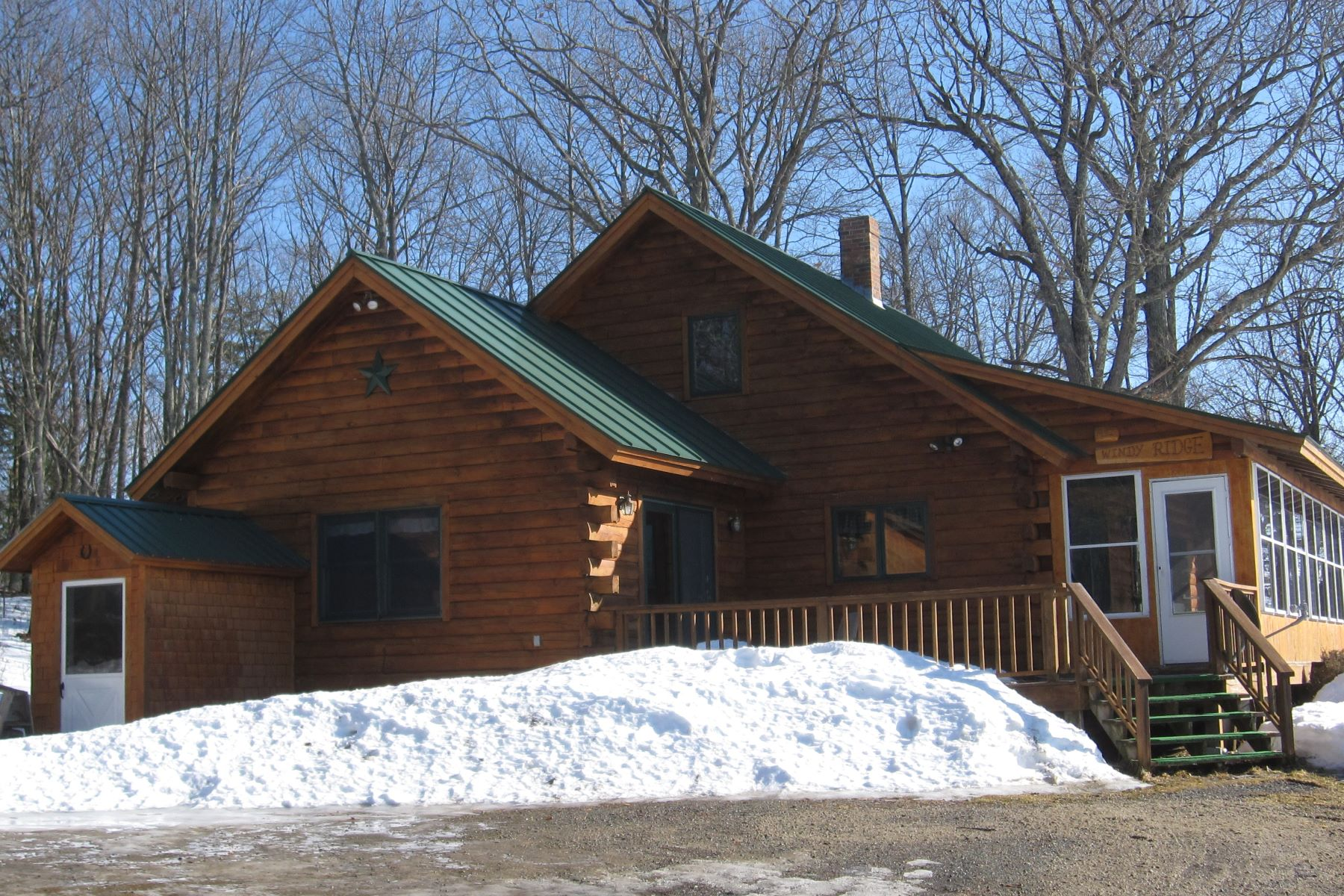 Single Family Home for Sale at Three Bedroom Log Cabin in Ryegate 537 Henderson Dr Ryegate, Vermont 05046 United States