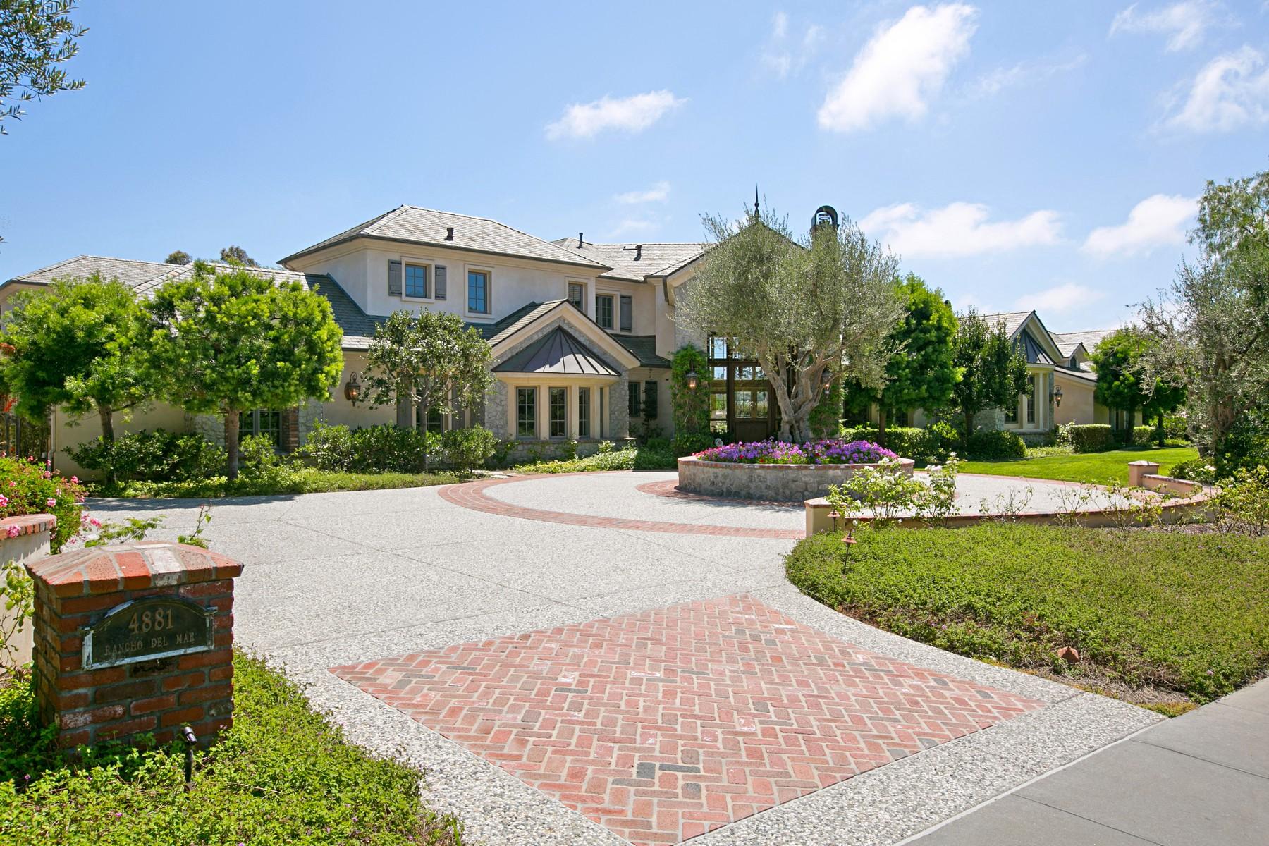 Maison unifamiliale pour l Vente à French Country Chateau! 4881 Rancho Del Mar Trail San Diego, Californie 92130 États-Unis