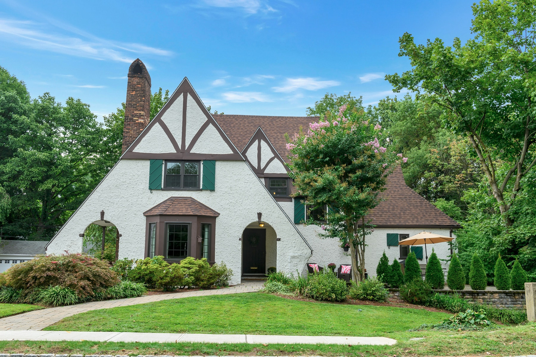 Single Family Homes for Sale at Light-Filled, Storybook Tudor 19 Woodmont Road Montclair, New Jersey 07043 United States