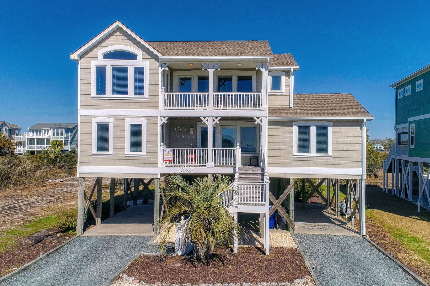 Single Family Homes for Sale at Coastal Outdoor Living Beach Home 1036 Ocean Boulevard W Holden Beach, North Carolina 28462 United States