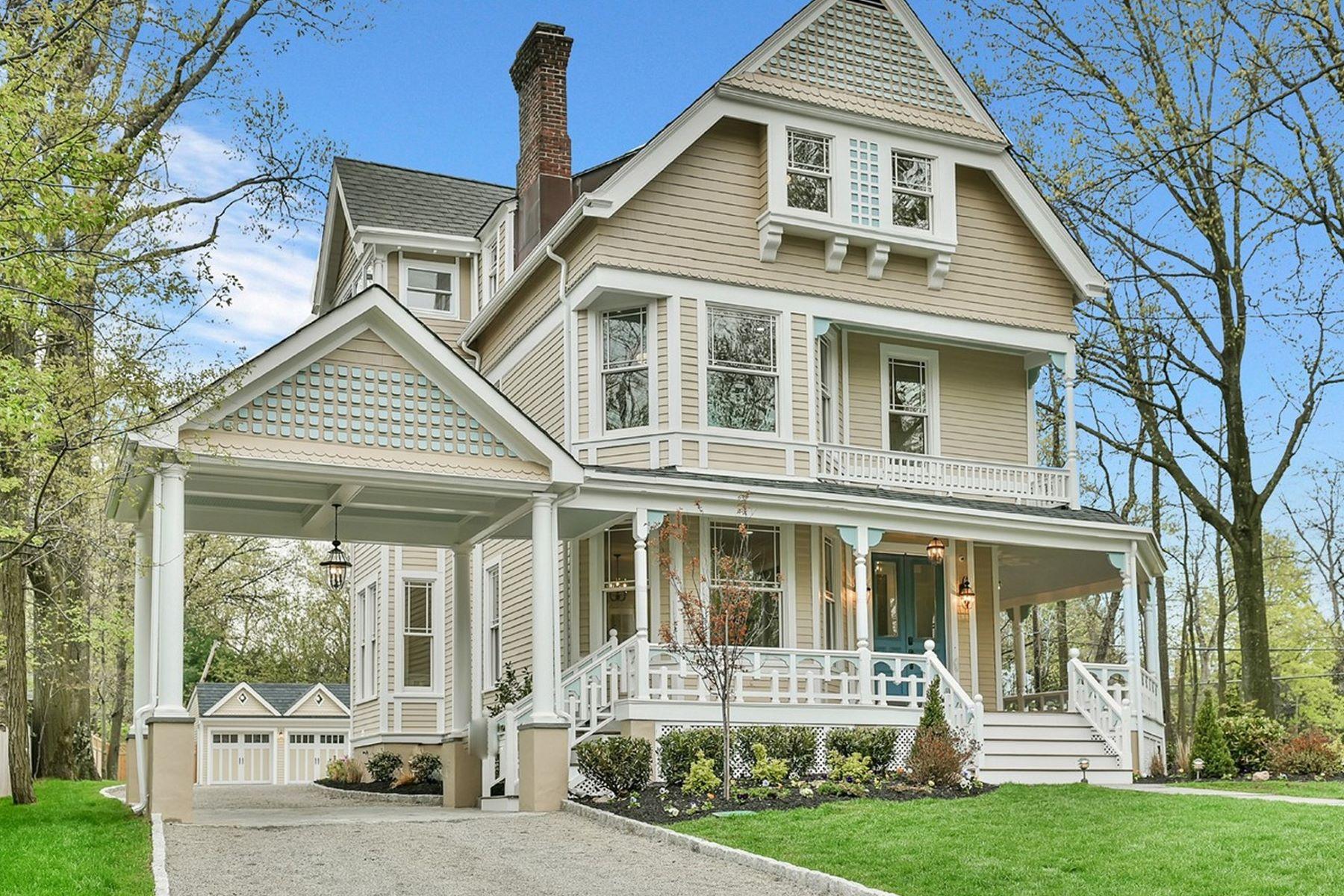 Частный односемейный дом для того Продажа на Reborn 19th Century Queen Anne Victorian 160 Bellevue Avenue Montclair, 07043 Соединенные Штаты