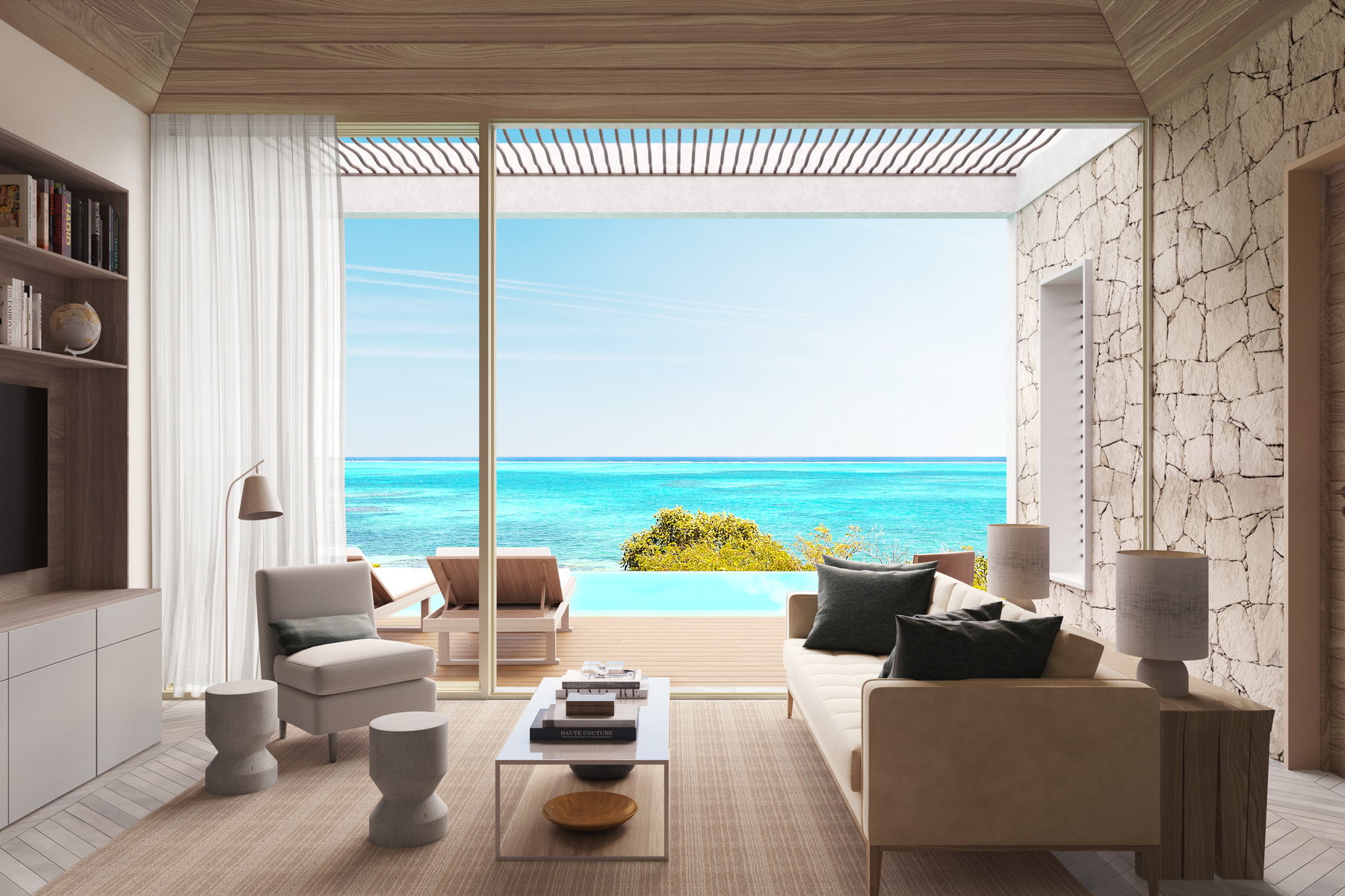 Casa Unifamiliar por un Venta en Rock House Two Bedroom International Drive Oceanfront Blue Mountain, Providenciales TKCA 1ZZ Islas Turcas Y Caicos