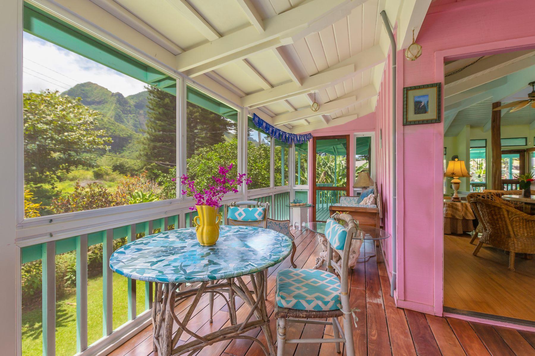 Single Family Homes 용 매매 에 Hanalei, 하와이 96722 미국