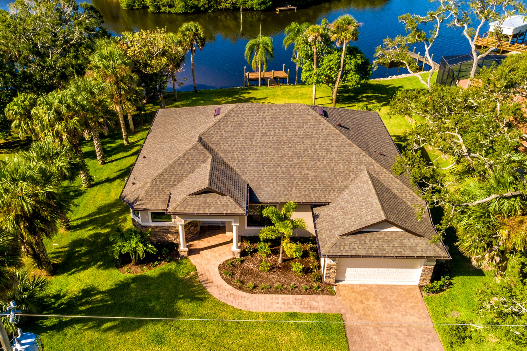 Single Family Home for Sale at Brand New Waterfront Home in Palm Bay Point 1434 Herndon Circle NE Palm Bay, Florida 32905 United States