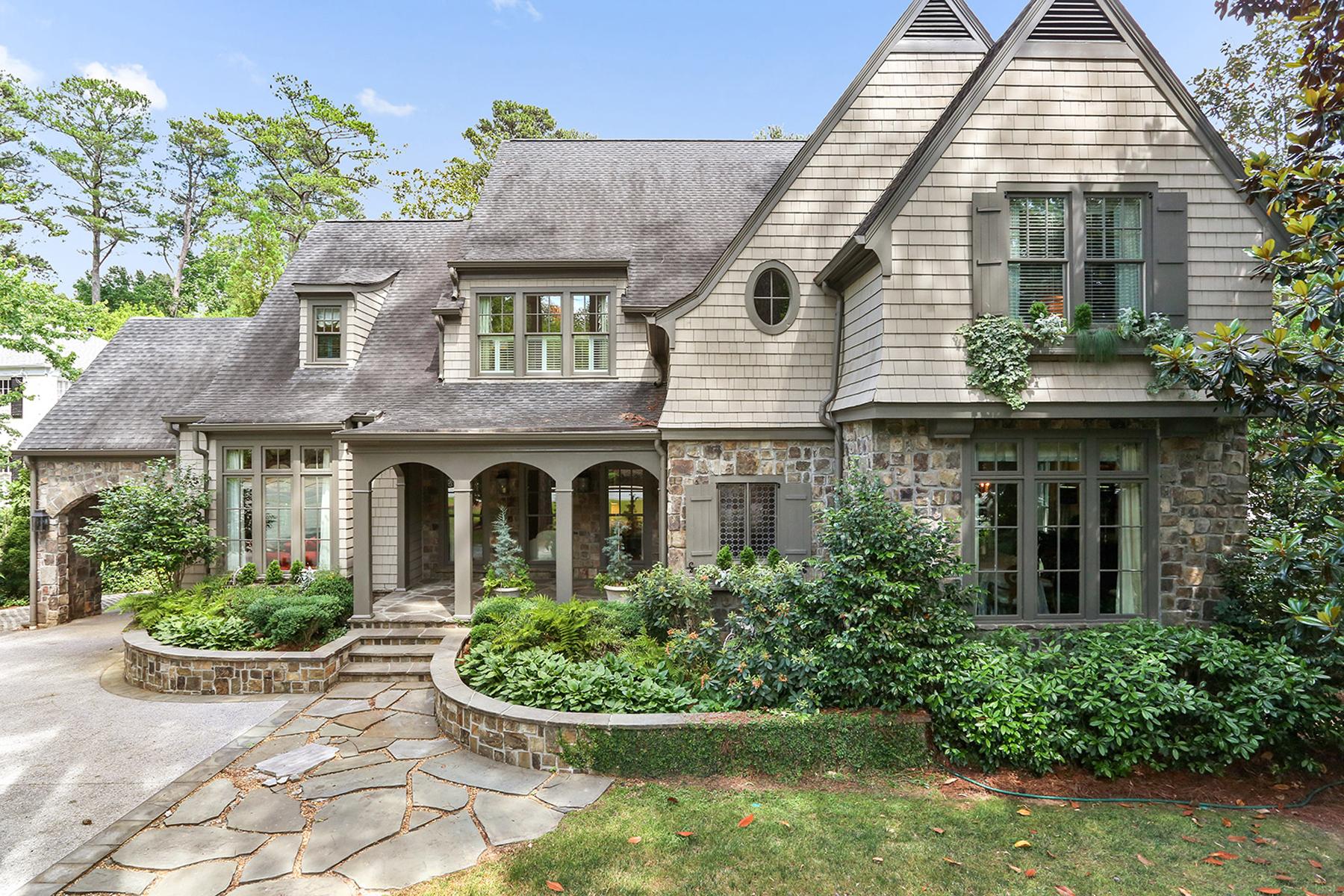 獨棟家庭住宅 為 出售 在 Immaculate Dutch Colonial Style Home In The Heart Of Buckhead 3303 Habersham Road NW Buckhead, Atlanta, 喬治亞州, 30305 美國