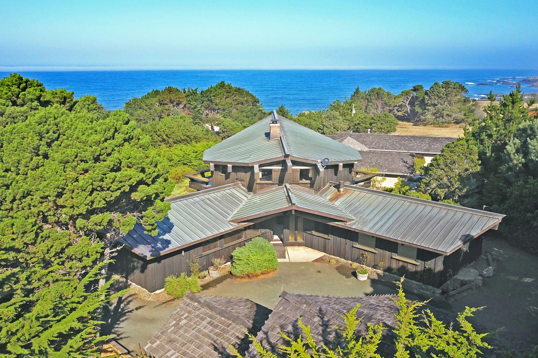 独户住宅 为 销售 在 Ocean View Timbers 45621 Cypress Drive Mendocino, 加利福尼亚州 95460 美国