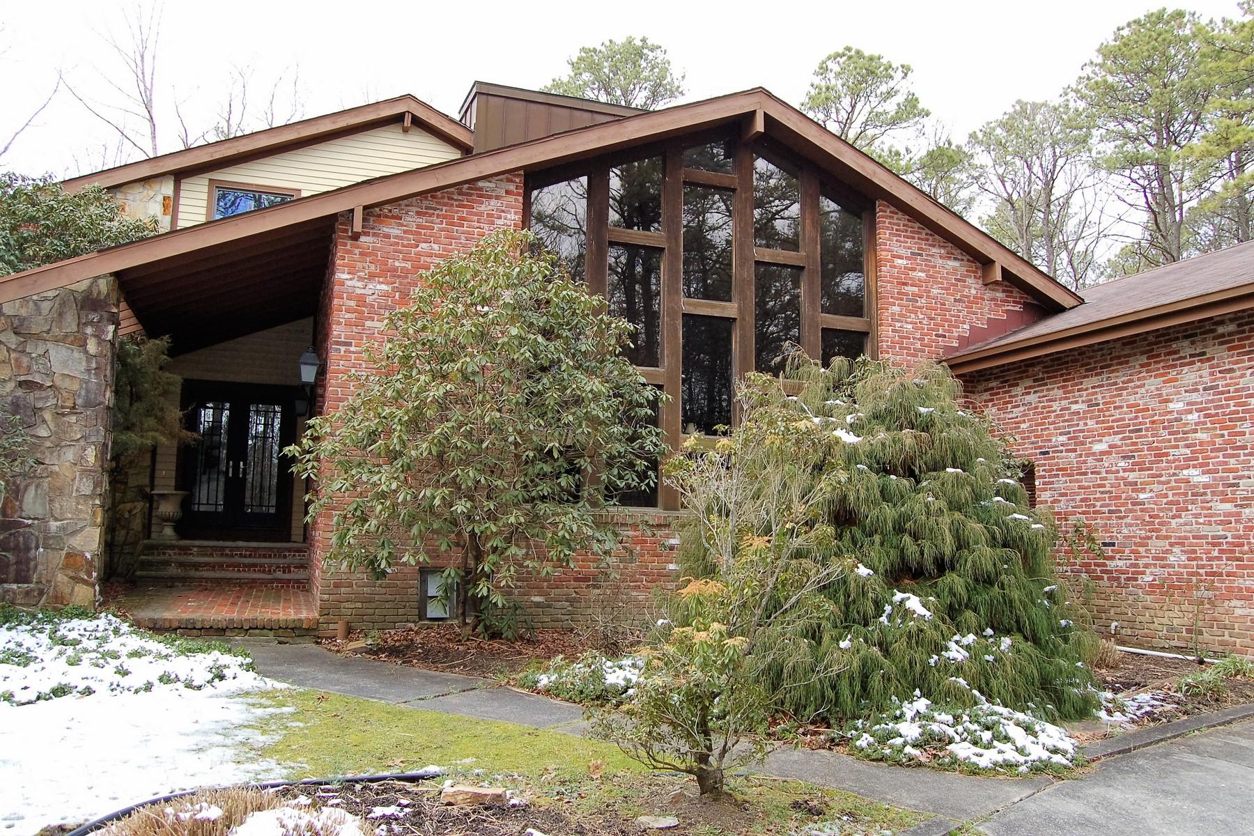 Maison unifamiliale pour l Vente à Custom Home in a Private Setting 113 E Great Creek Road Galloway, New Jersey 08205 États-Unis