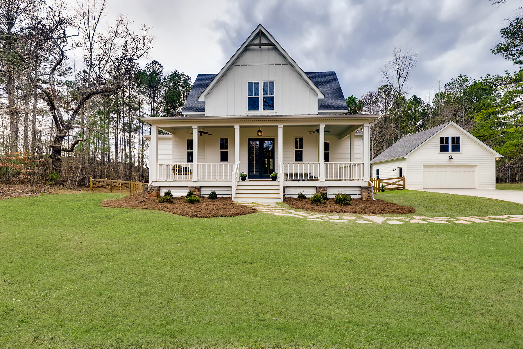 Single Family Homes for Sale at Enchanting Transitional Farmhouse On 5+/- Acres Near Serenbe Built In 2018 1632 Happy Valley Circle Newnan, Georgia 30263 United States