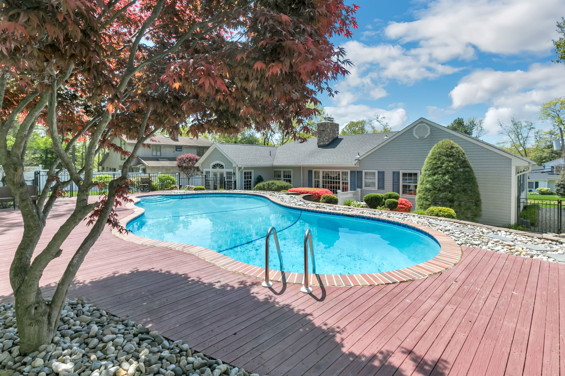 Single Family Homes for Sale at Lovely Ranch Nestled in Rolling Hills of Brielle 642 Valley Rd Brielle, New Jersey 08730 United States