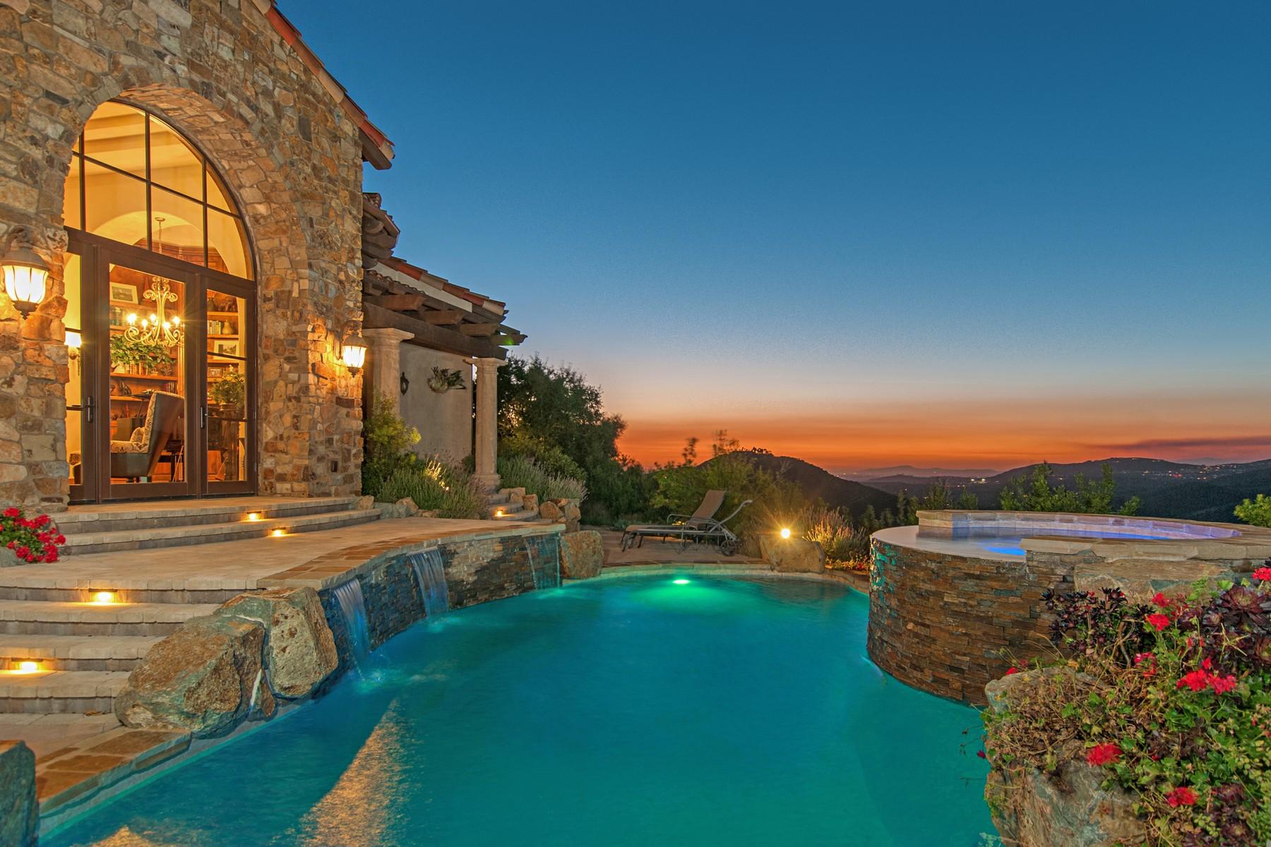 단독 가정 주택 용 매매 에 8060 Camino de Arriba Rancho Santa Fe, 캘리포니아, 92067 미국