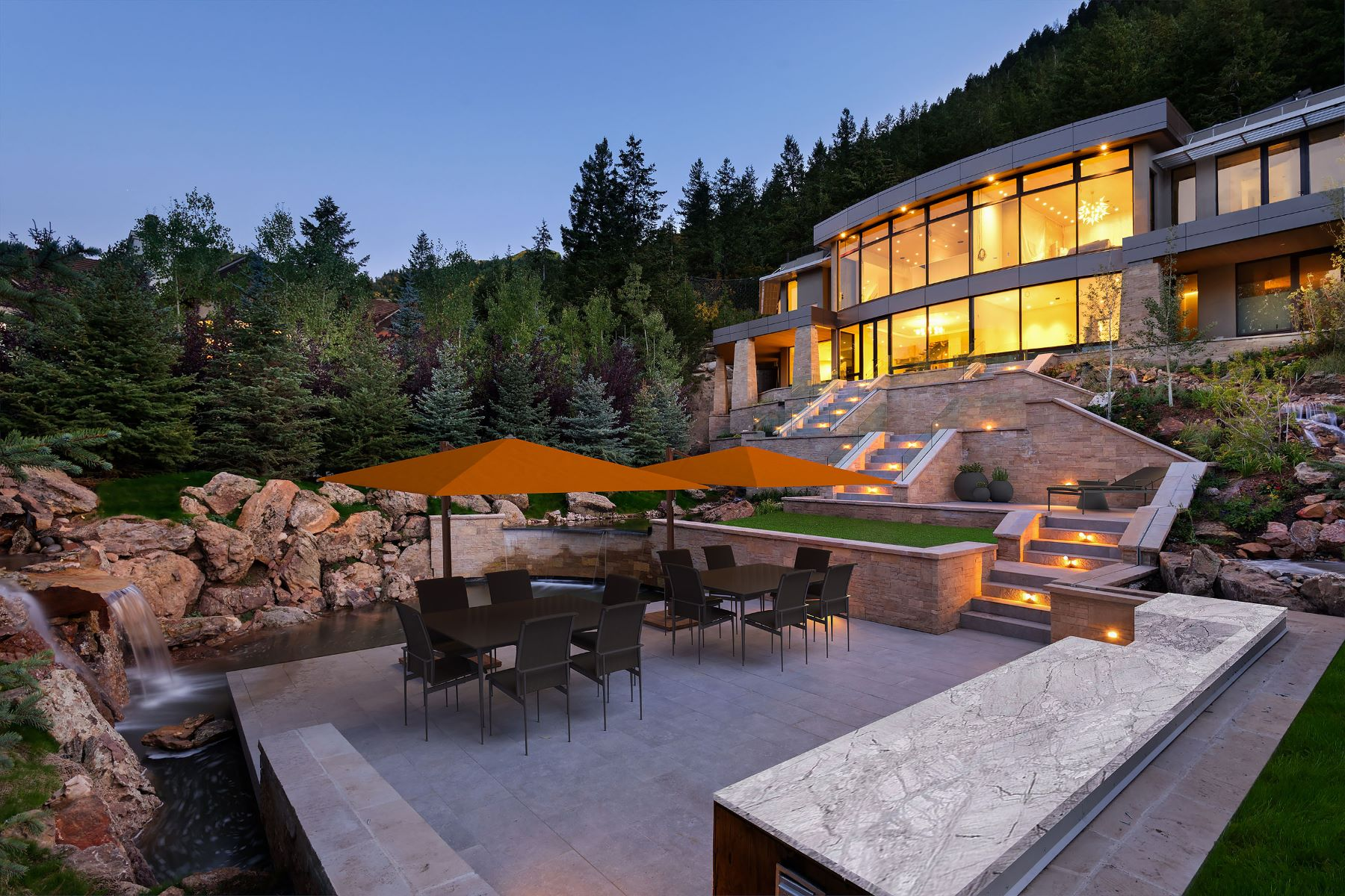 Casa Unifamiliar por un Venta en Downtown Aspen Masterpiece 19 Little Cloud Trail Aspen, Colorado 81611 Estados Unidos