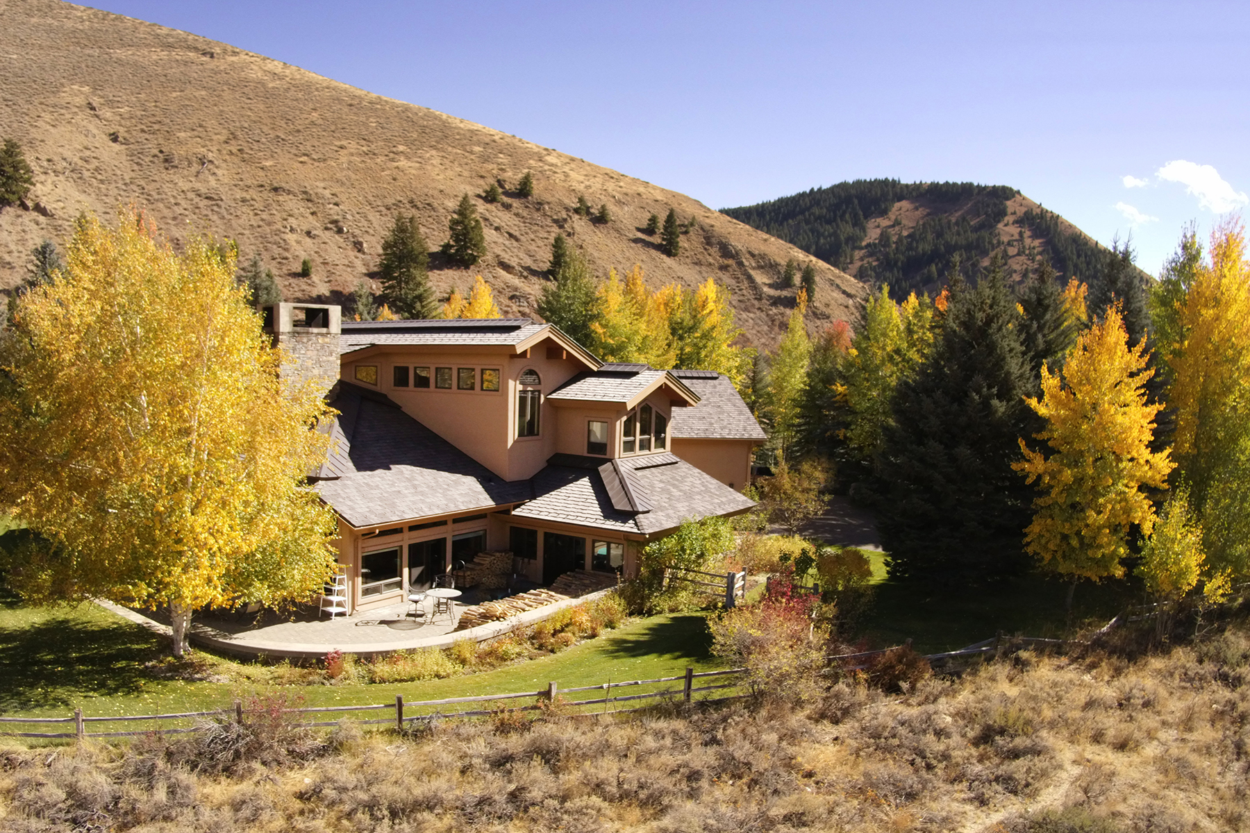 Single Family Homes for Sale at Elevated Gimlet with Boulder Mountain View 345 Wall Street Ketchum, Idaho 83340 United States