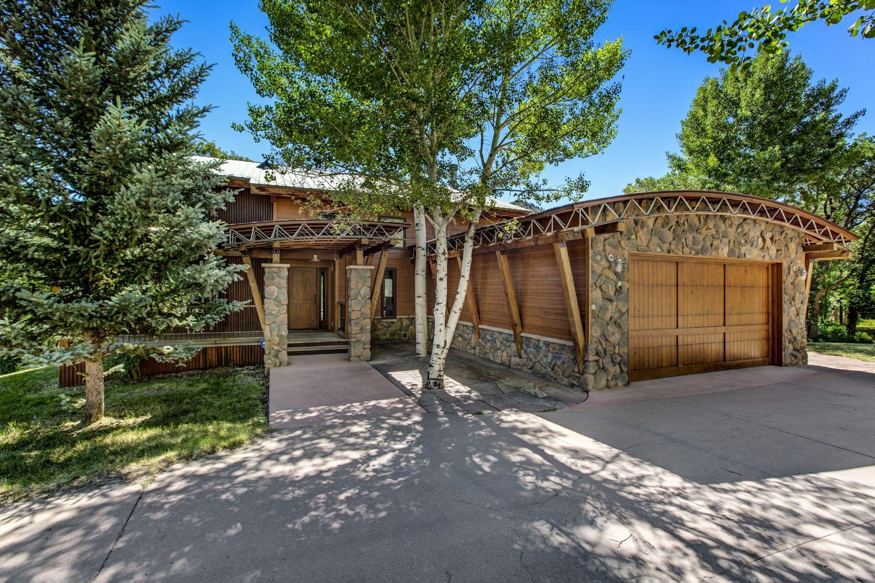 Casa Unifamiliar por un Venta en Colorado Mountain Home 0060 County Road 149 Glenwood Springs, Colorado 81601 Estados Unidos