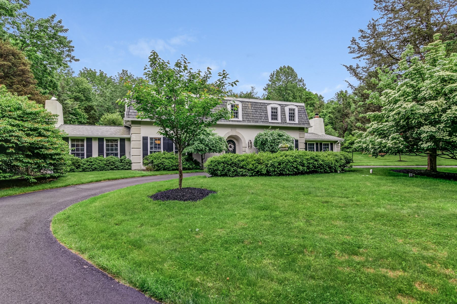 Single Family Home for Sale at Unique French Colonial 1 Cedar Lane Mendham, New Jersey 07945 United States