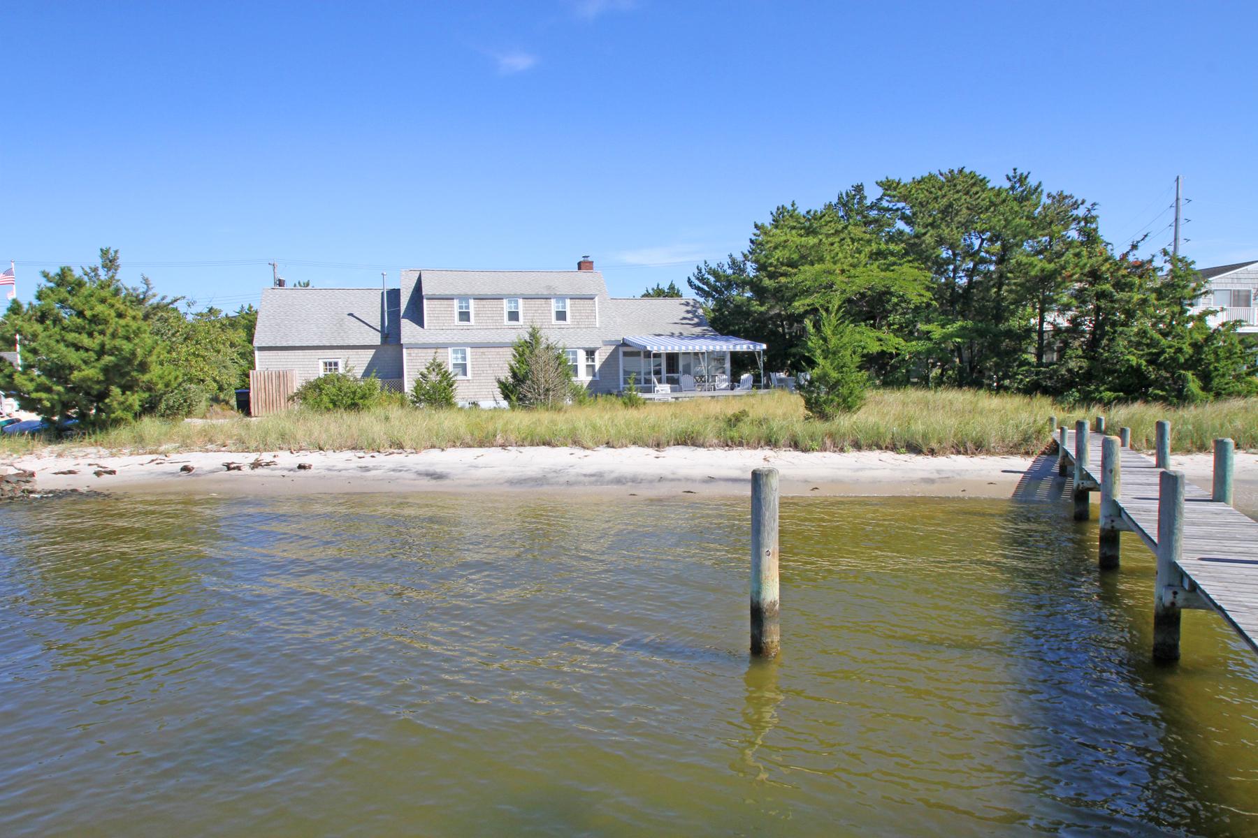 Частный односемейный дом для того Продажа на Unique Bayfront Property Provides Endless Possibilities 1540 Runyon Lane, Mantoloking, Нью-Джерси 08738 Соединенные Штаты