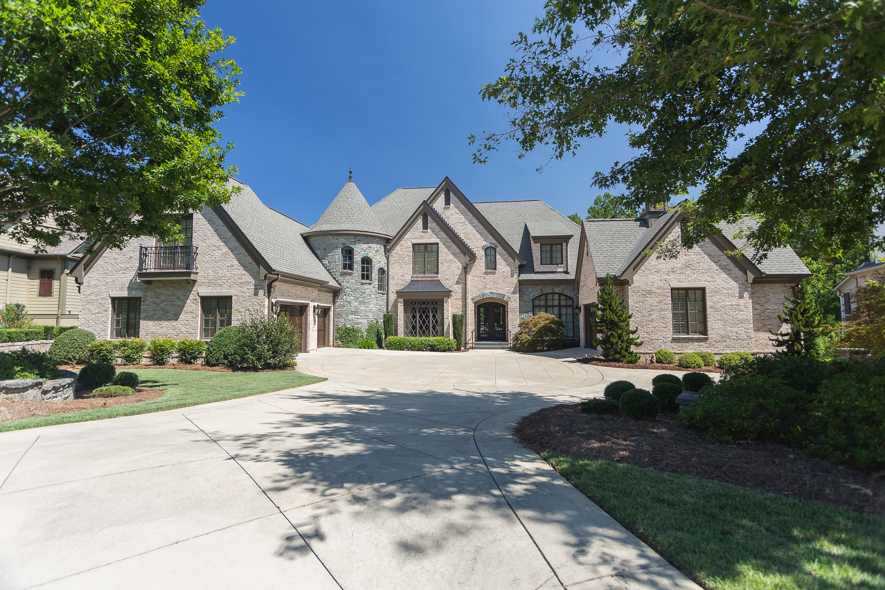 Single Family Homes for Sale at French Normandy Masterpiece In Peachtree City 204 Brookings Lane Peachtree City, Georgia 30269 United States