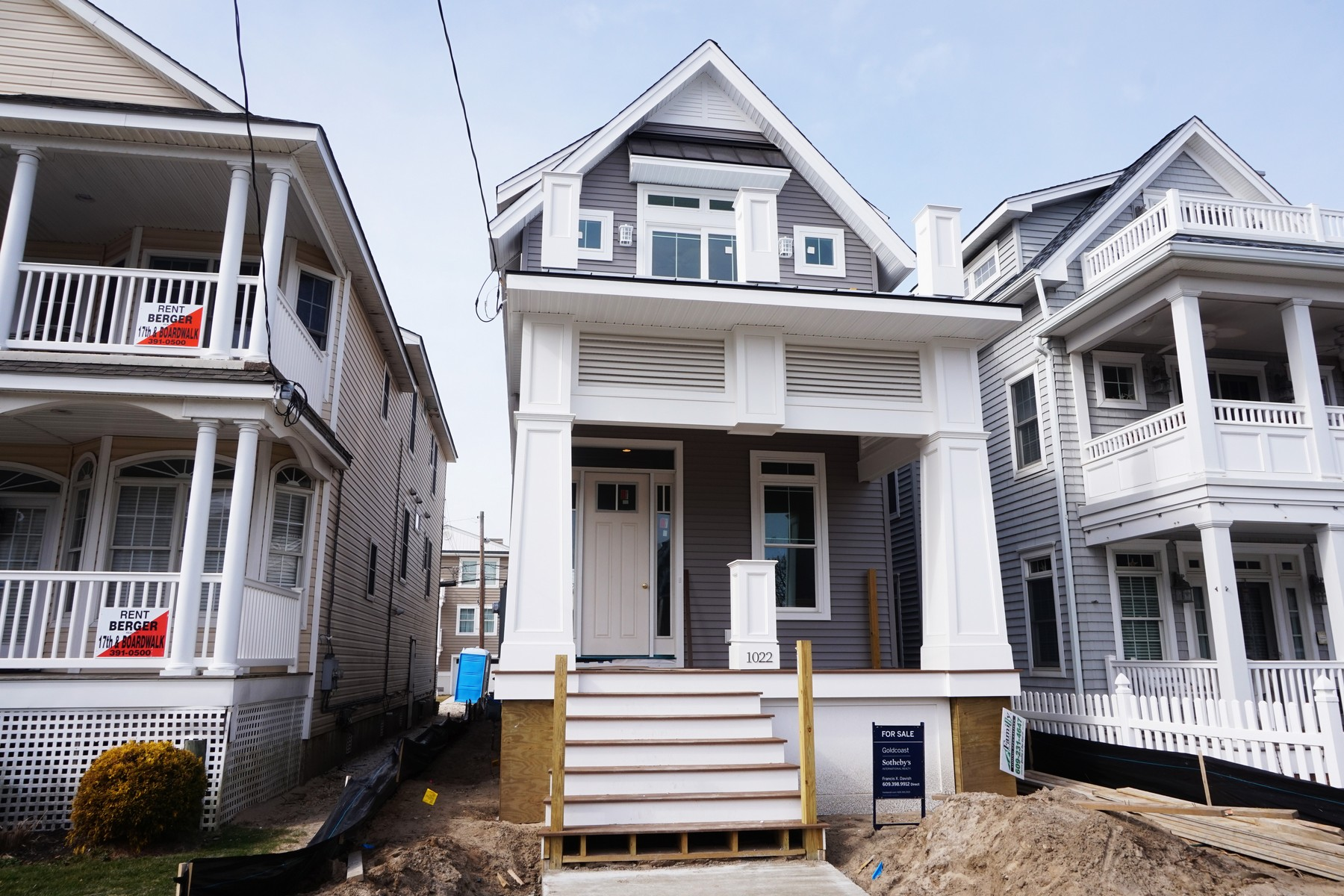 Single Family Home for Sale at Spectacular New Construction 1022 Wesley Avenue Ocean City, New Jersey, 08226 United States