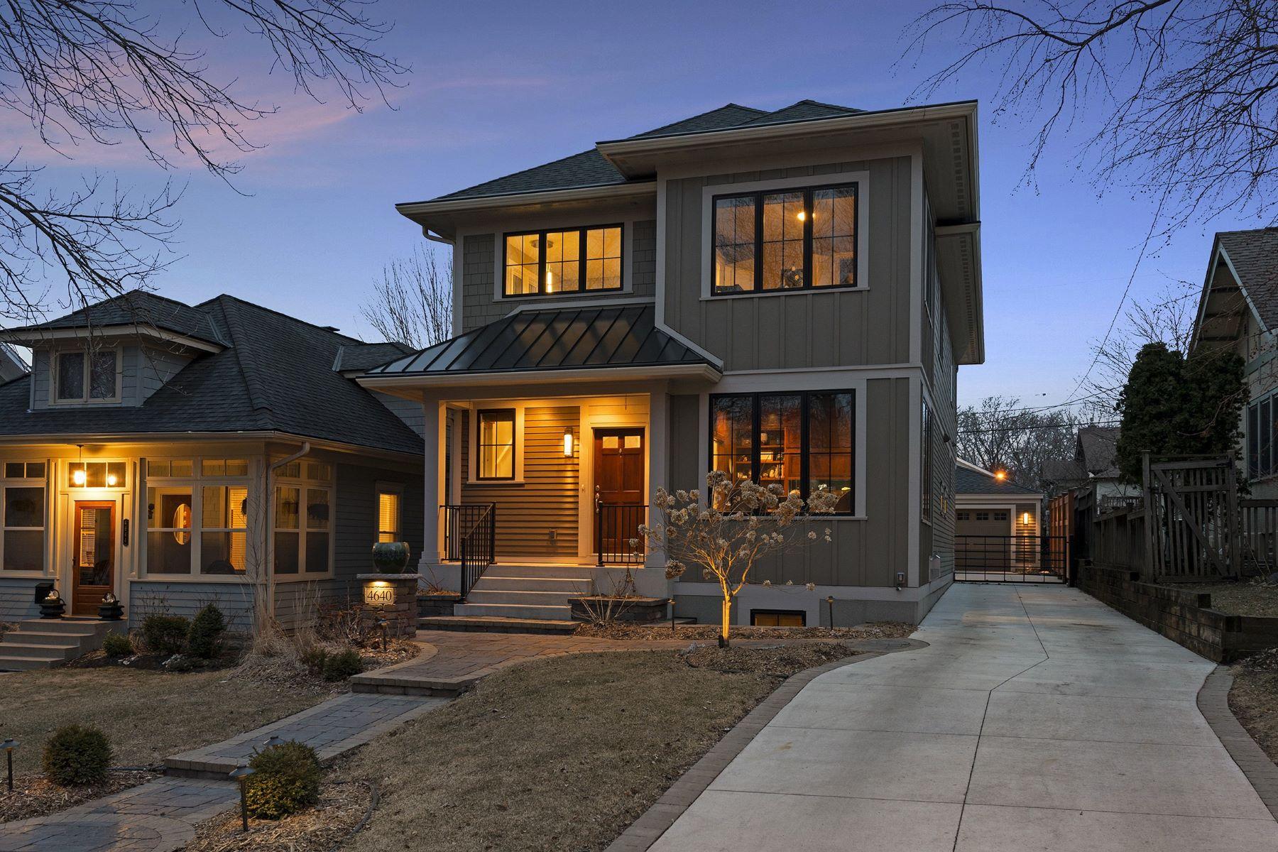 独户住宅 为 销售 在 4640 Vincent Avenue S 明尼阿波利斯市, 明尼苏达州, 55410 美国