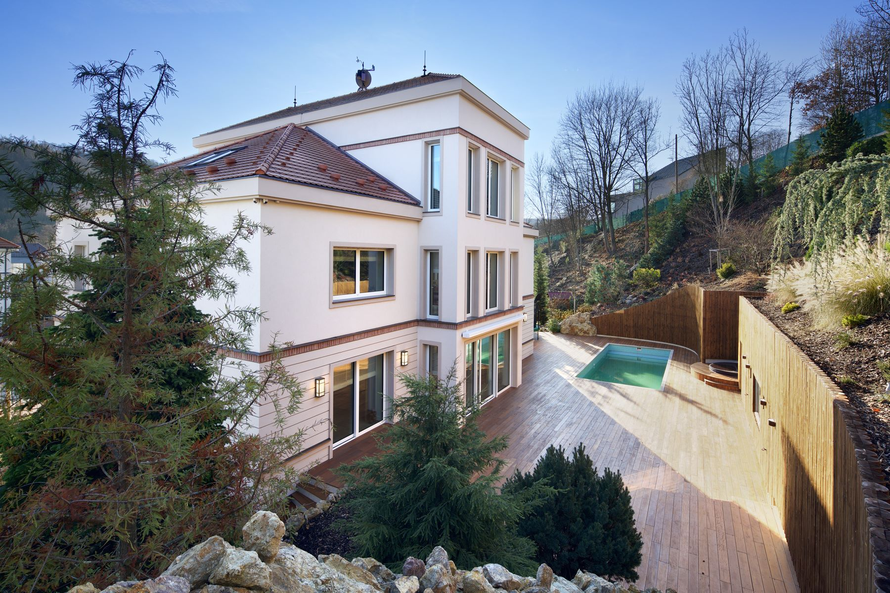 Single Family Home for Sale at Villa in gated community in Prague 6 Pod Meliškou 5, Prague, Prague, 16000 Czech Republic